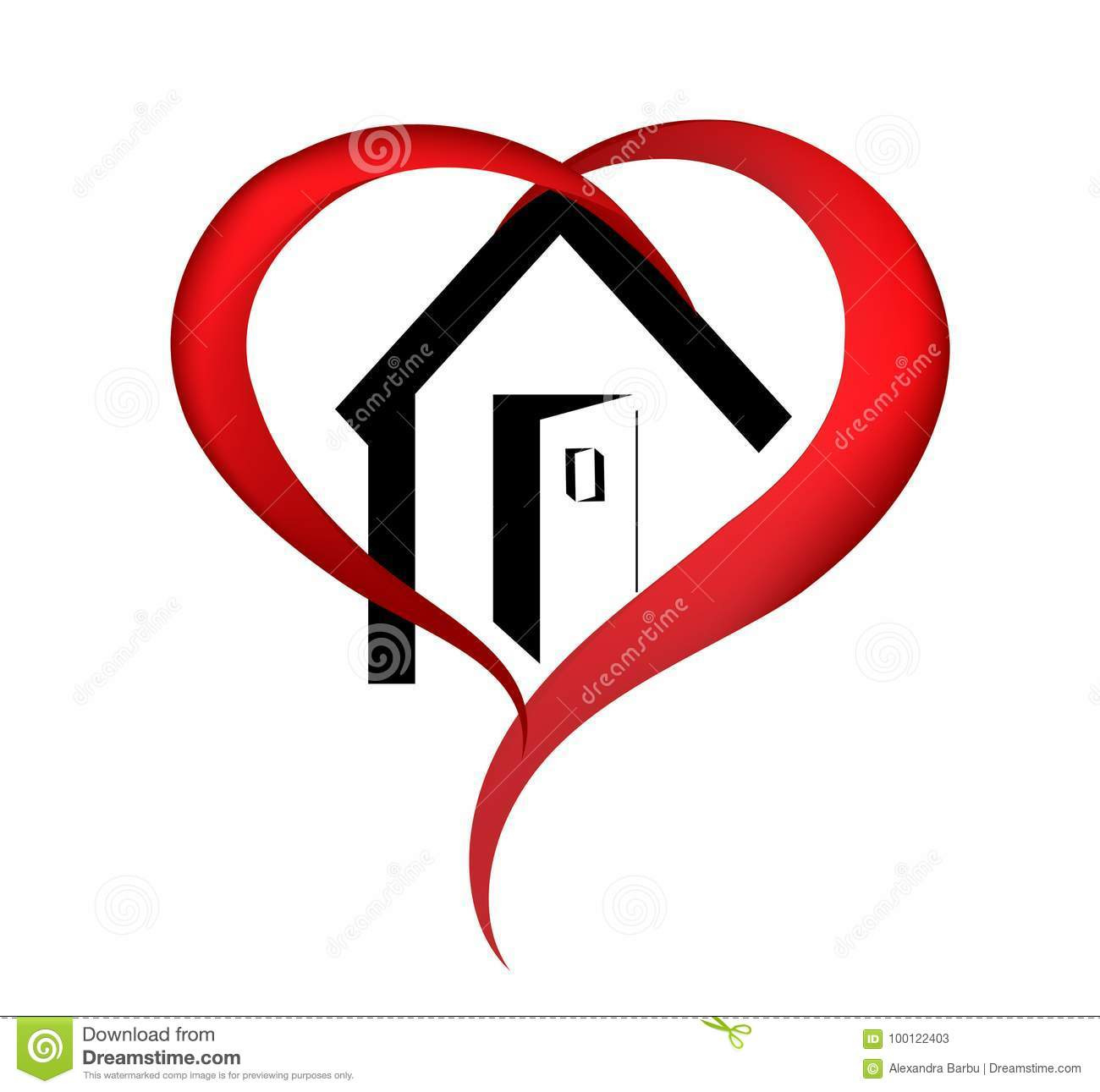 Pleasing Heart House Logo Stock Vector Illustration Of Illustration Home Remodeling Inspirations Genioncuboardxyz