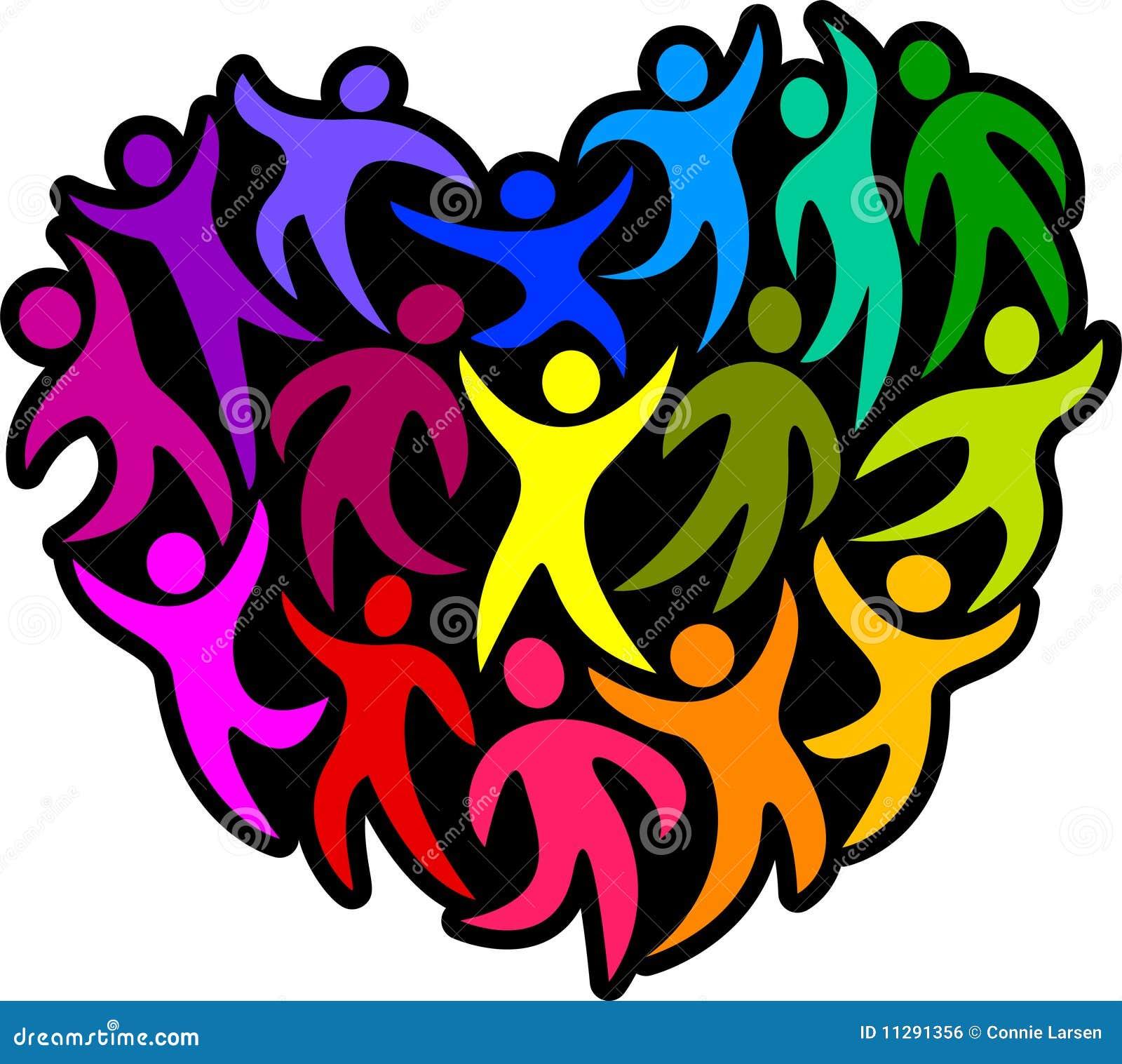heart of humanity eps stock vector illustration of celebration rh dreamstime com Culture Diversity Clip Art Diversity Day Clip Art