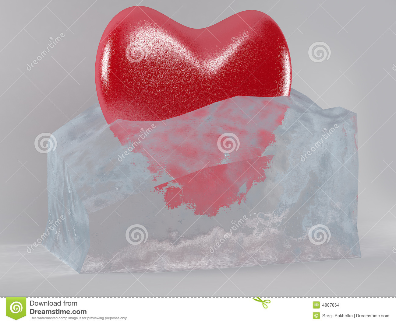 Download The heart in the ice cube stock illustration. Illustration of concepts - 4887864