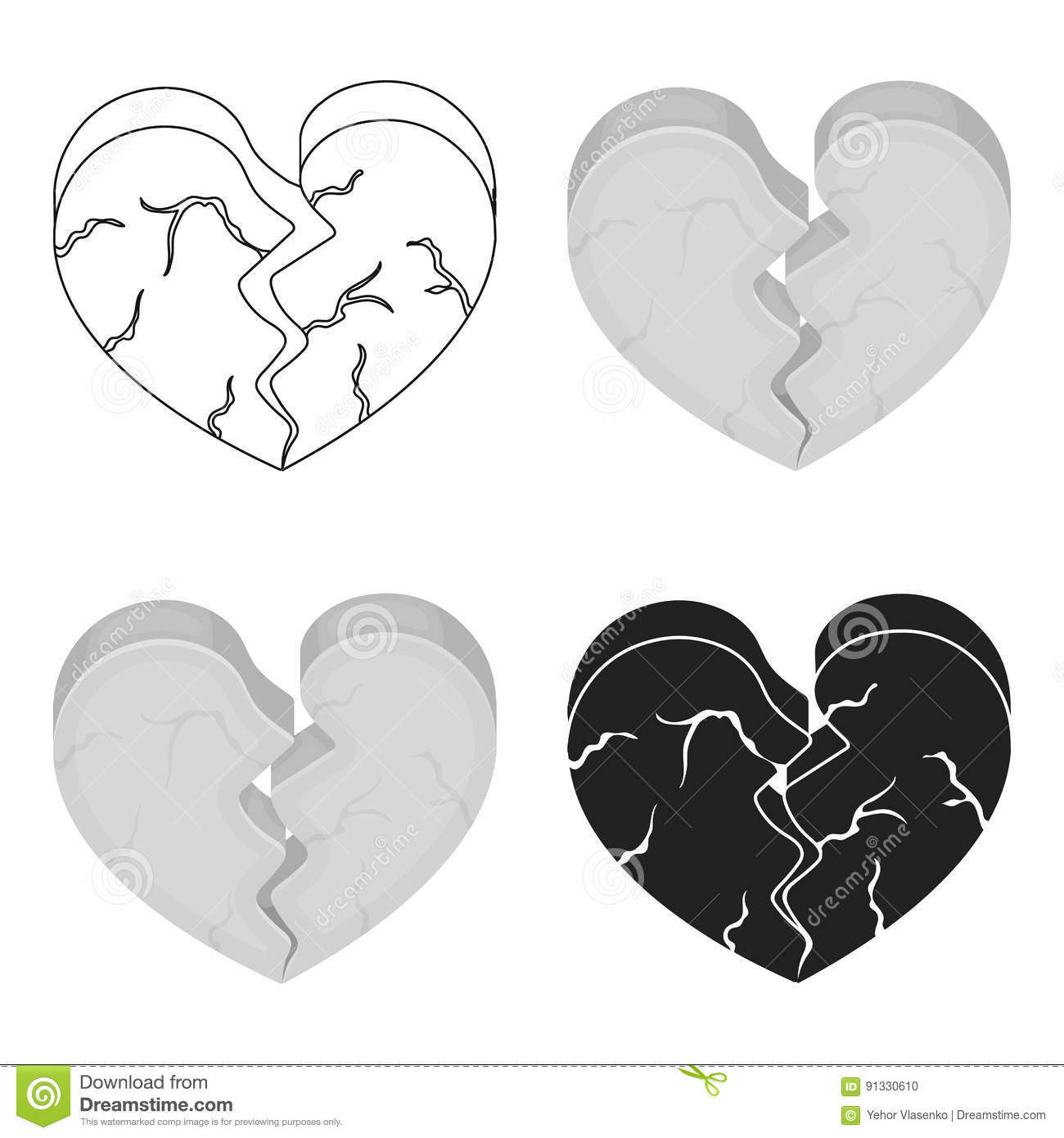 Heartbreak Cartoons Illustrations Vector Stock Images