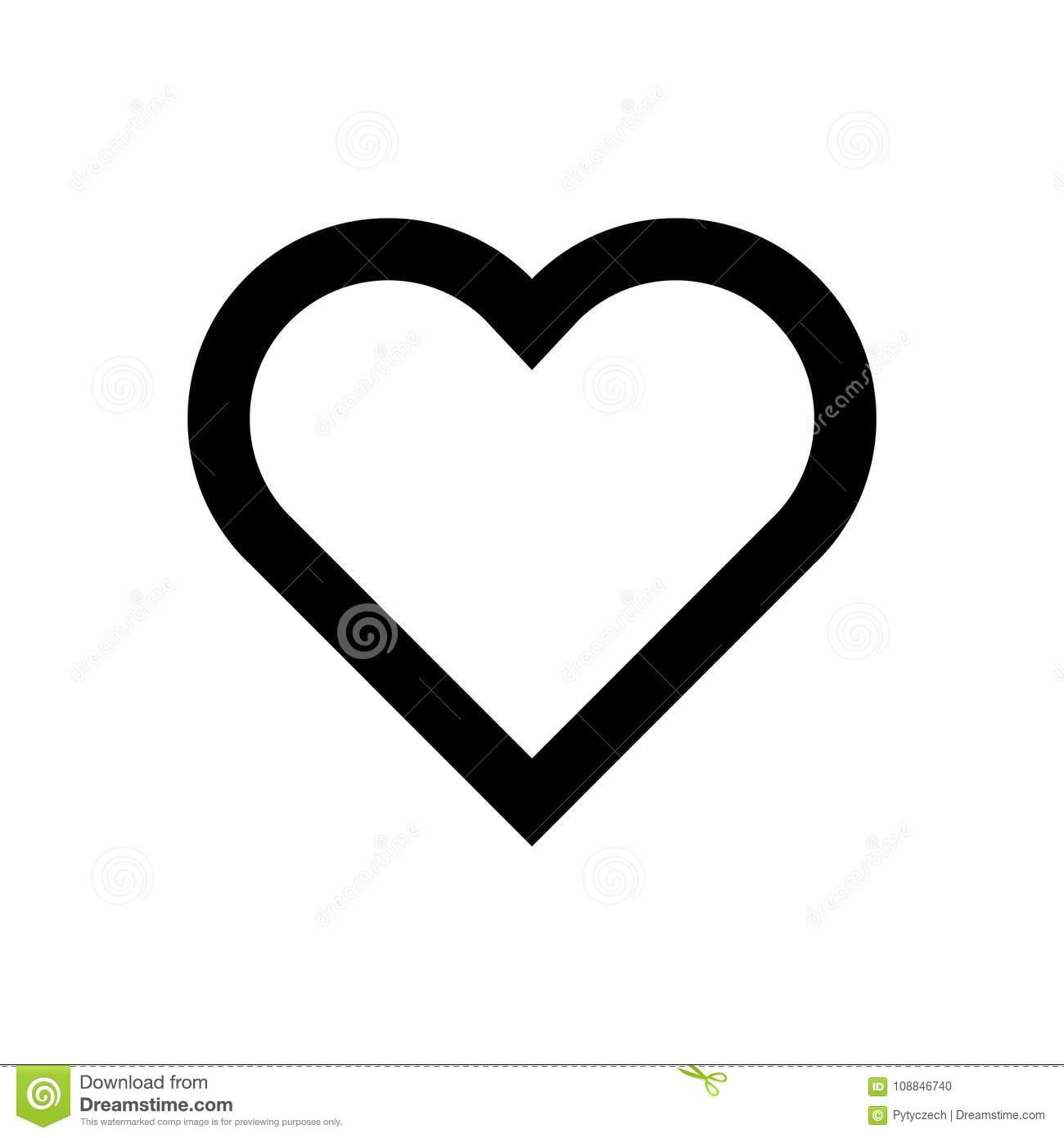 heart icon symbol of love and saint valentines day simple flat