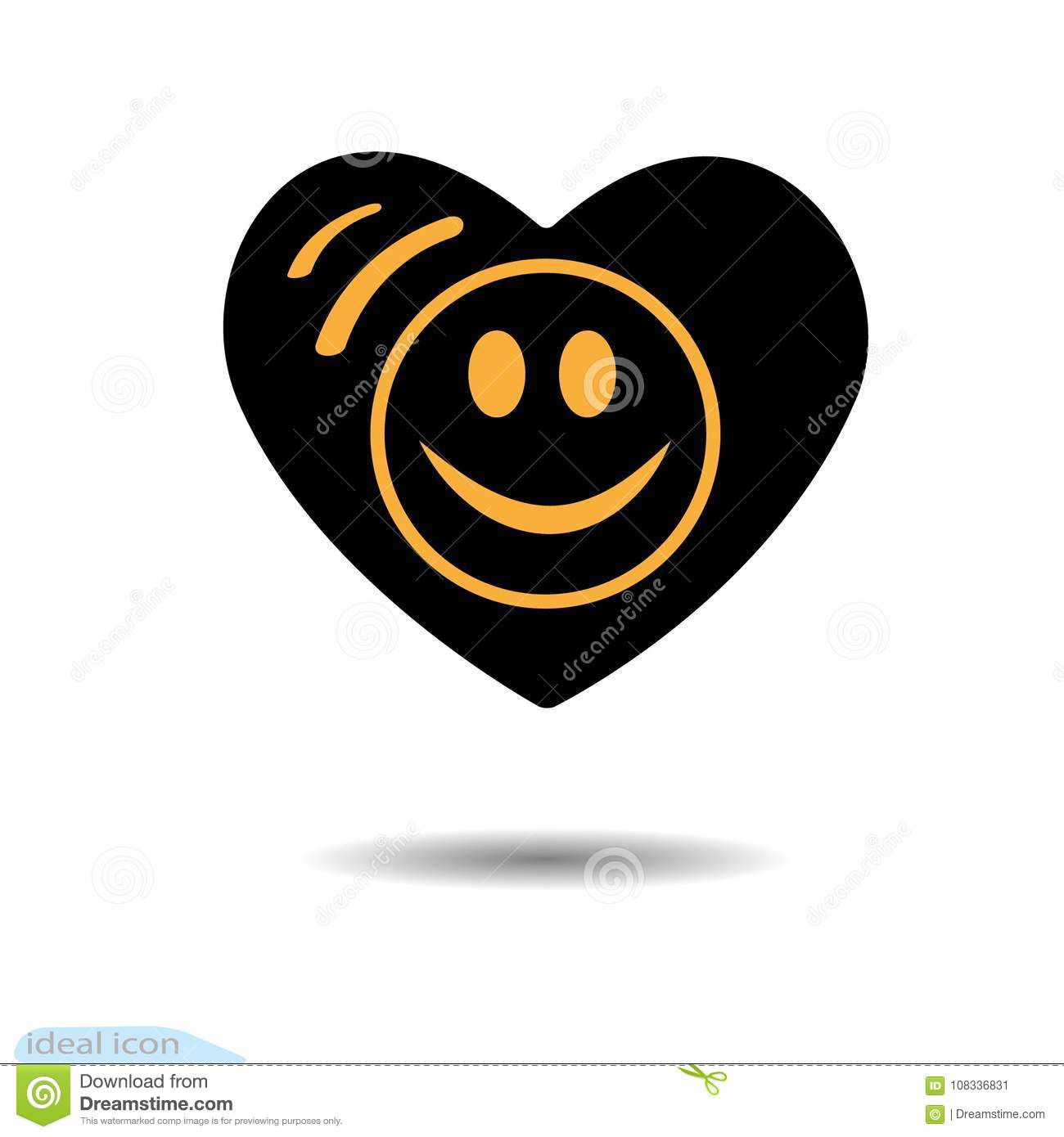 The heart icon a symbol of love valentine s day smile in the a symbol of love valentine s day smile in the circle eyes flat style for graphic design logo black as coal buycottarizona