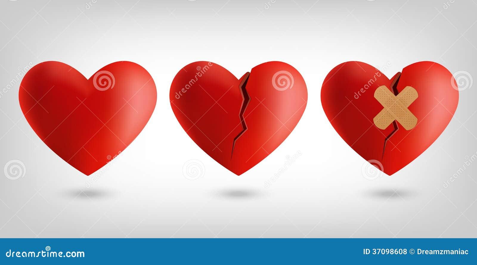 Heart icons stock vector illustration of healing broken 37098608 heart icons buycottarizona