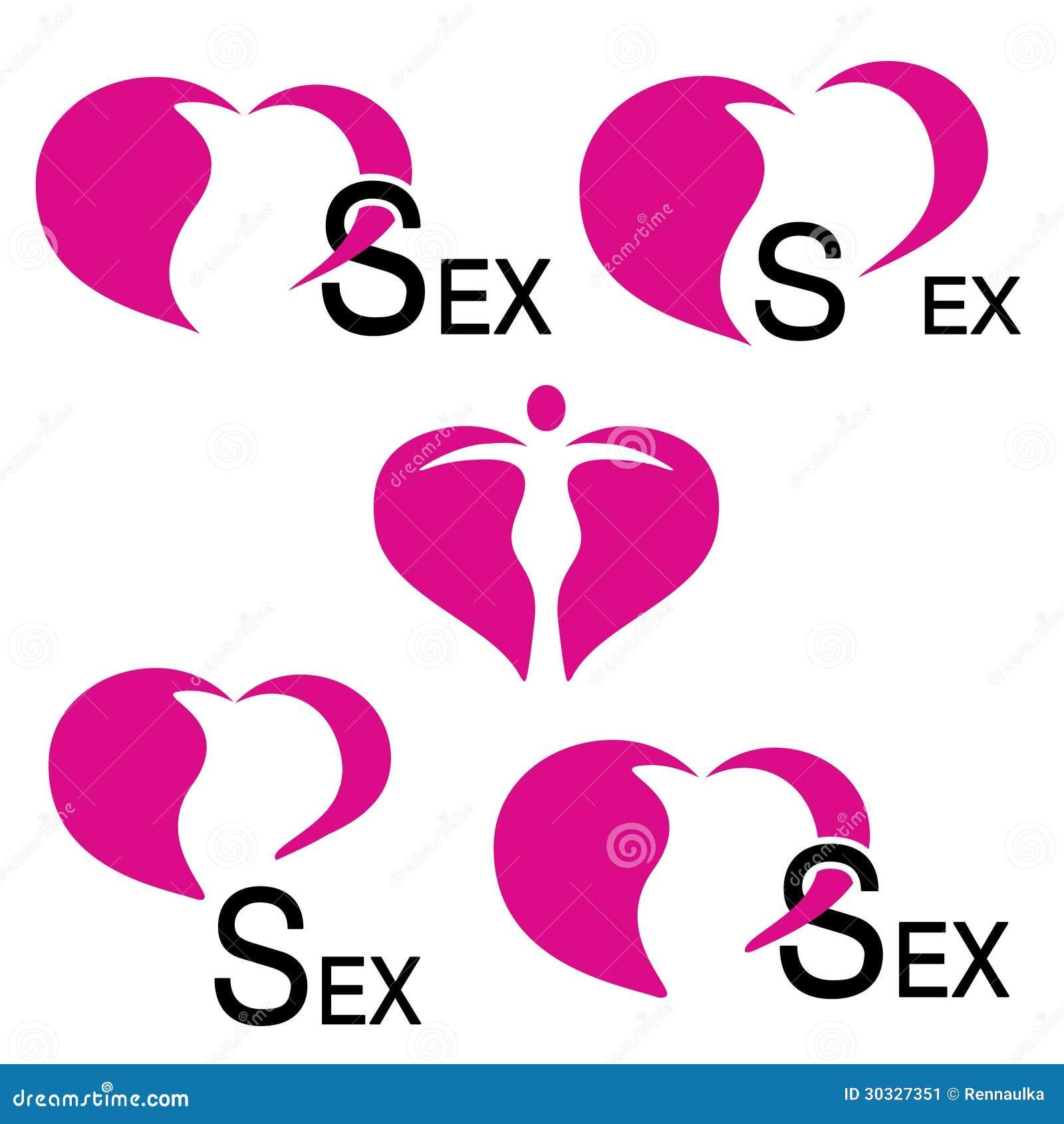 Heart icons sex symbols stock vector illustration of modern heart icons sex symbols buycottarizona