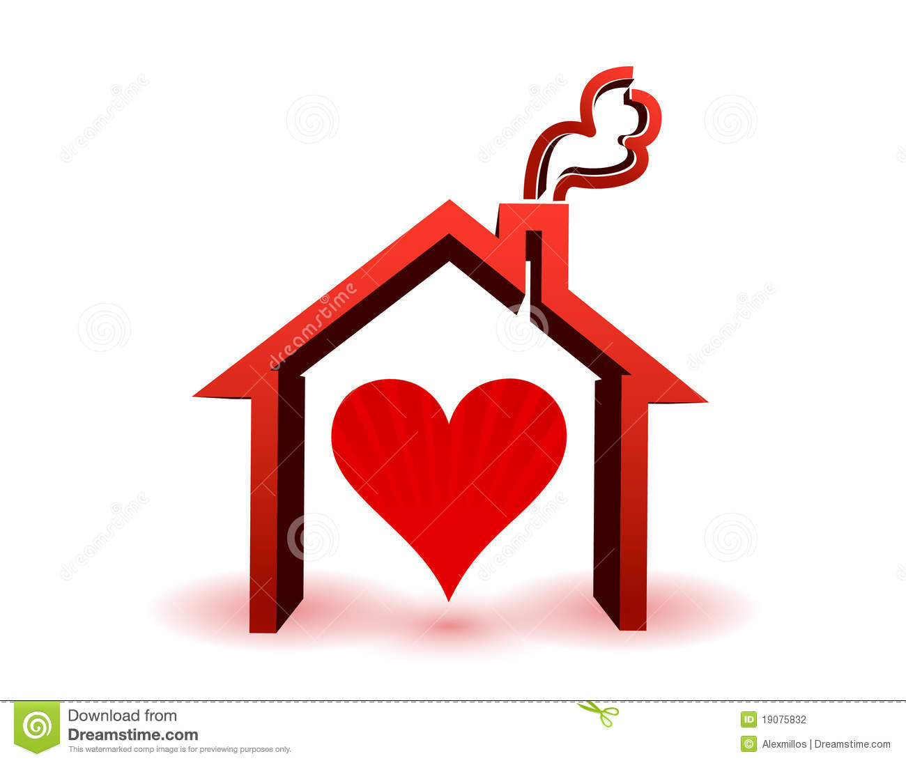 Heart Inside In House Stock Photography Image 19075832
