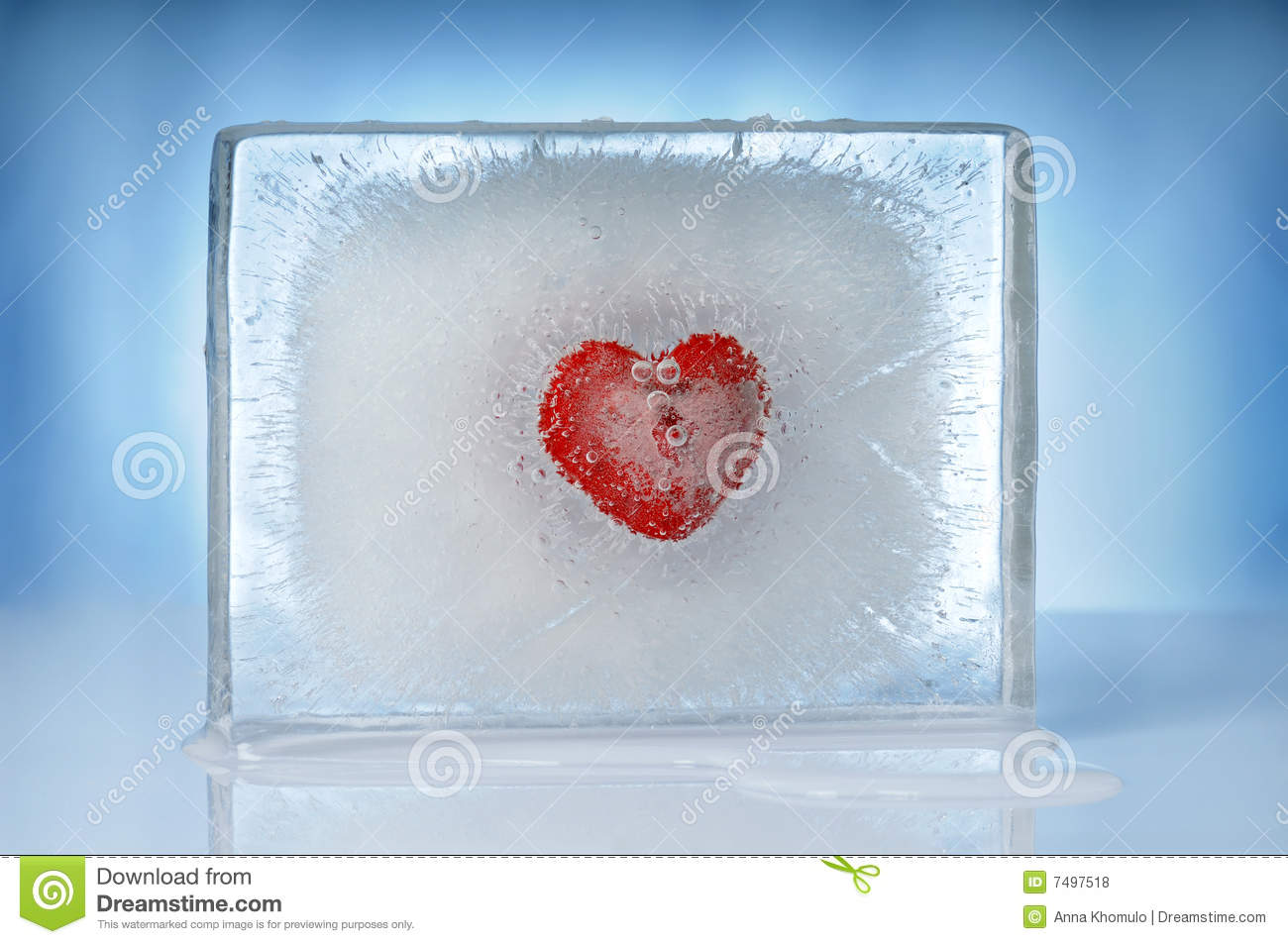 Download Heart inside ice block stock photo. Image of feeling, concept - 7497518