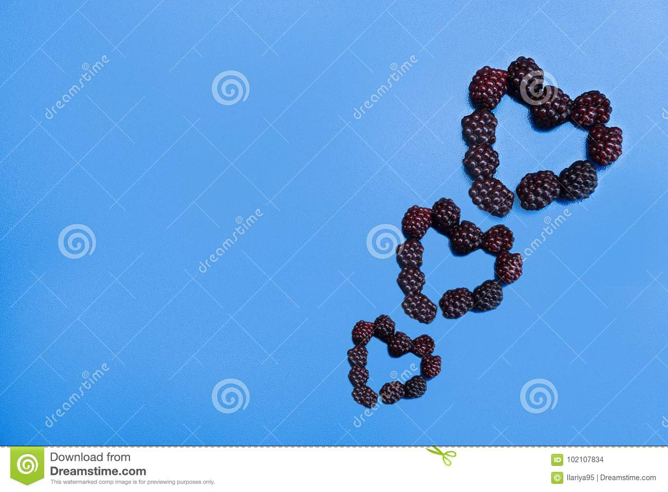 Heart Laid Out Of Blackberry Stock Photo Image Of Love Fragrant