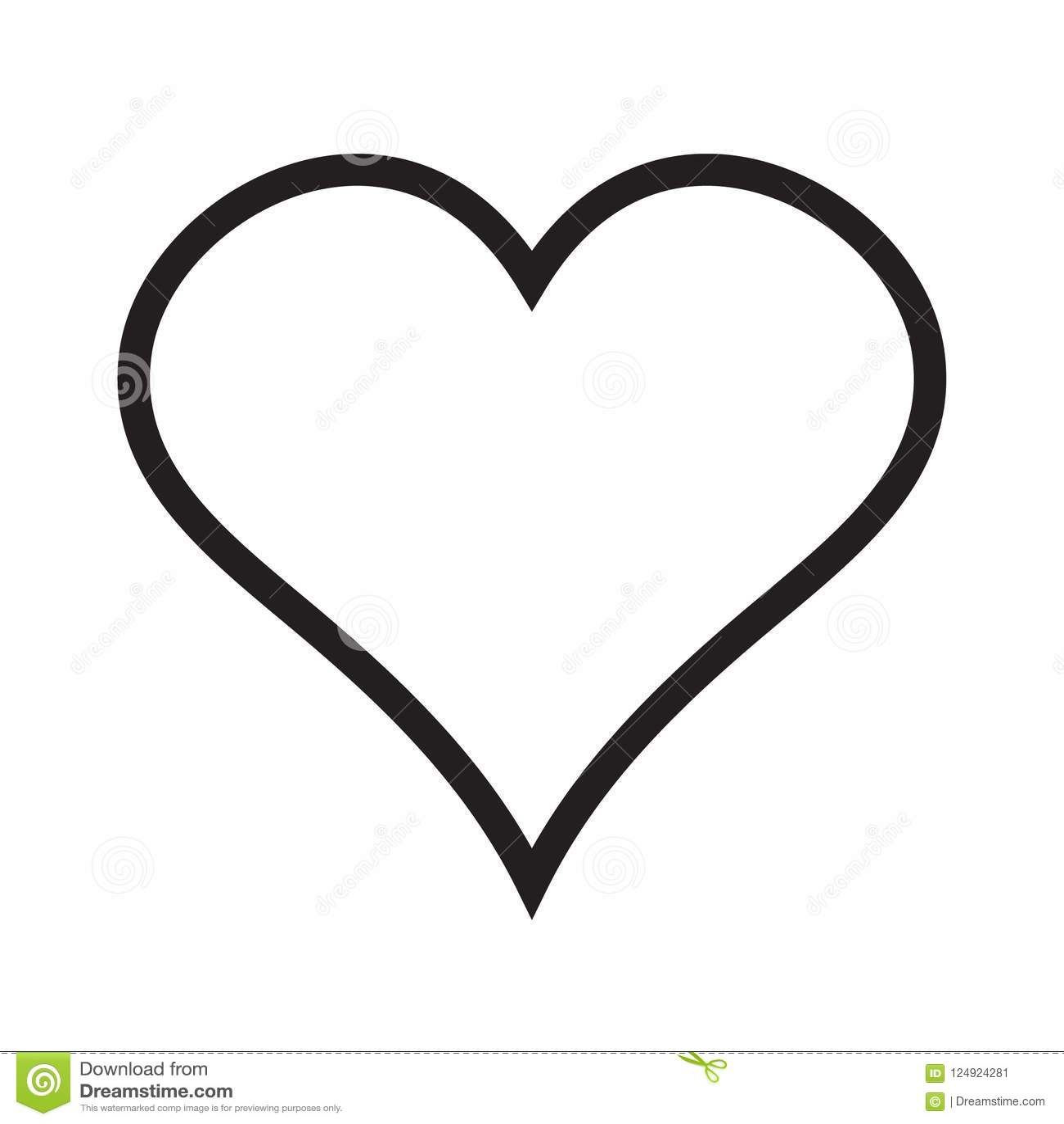 Heart linear icon, love icon