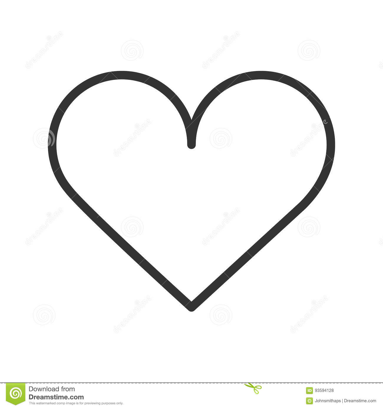 Line Art Heart Outline : Heart linear icon thin line illustration vector isolated