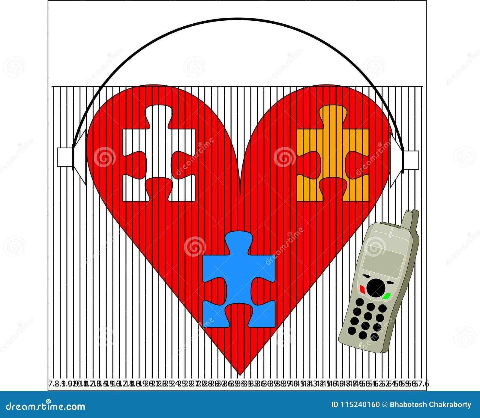 Heart listen music