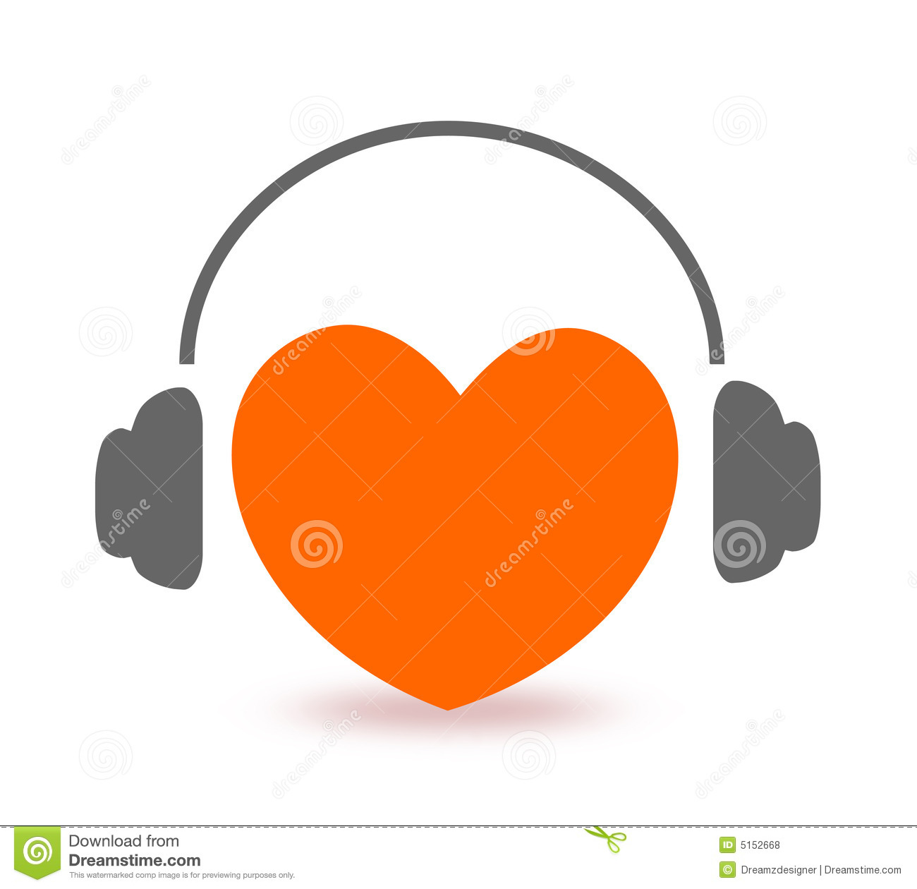 Heart Listening To Music Royalty Free Stock Photos - Image: 5152668