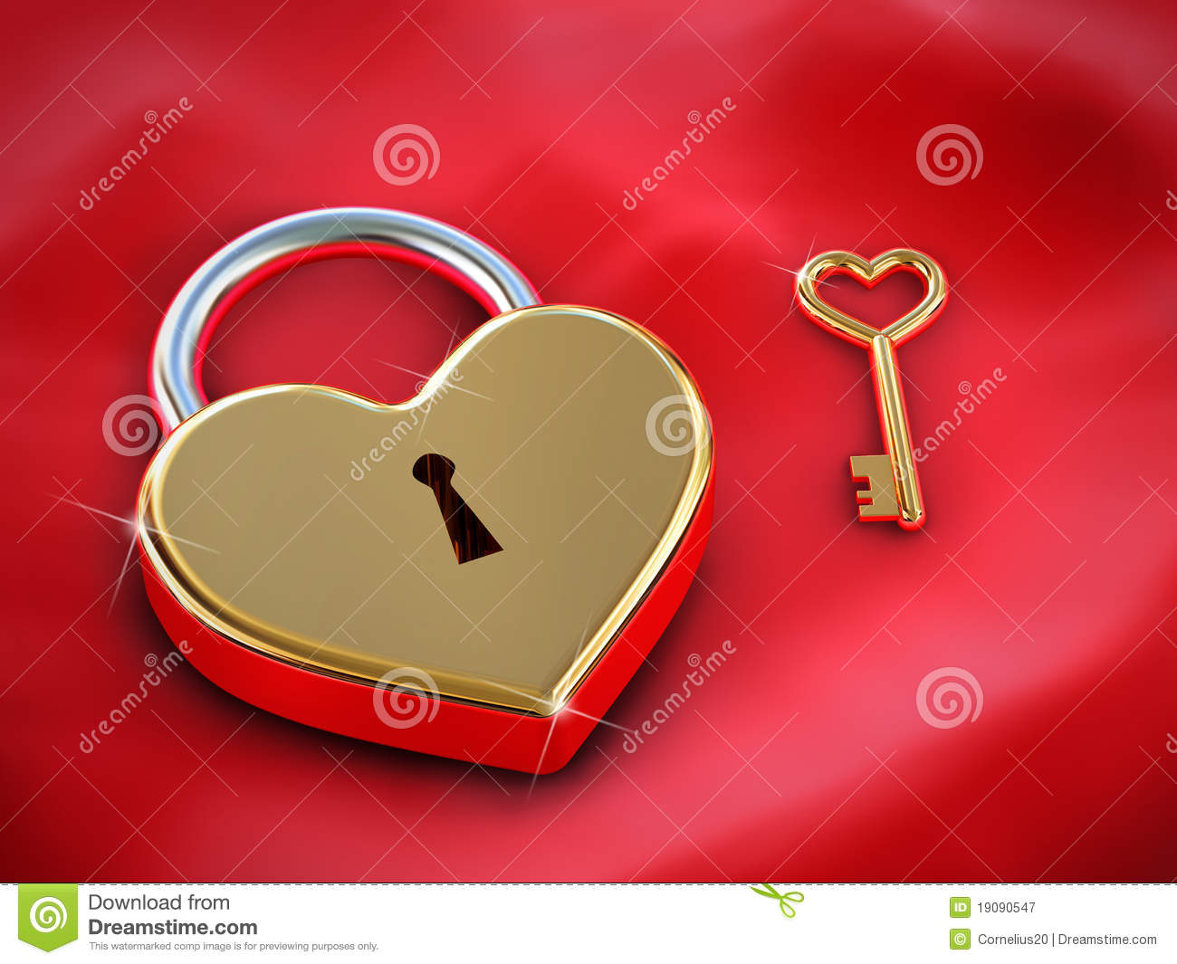 Heart Lock And Key Royalty Free Stock Photography Image 19090547