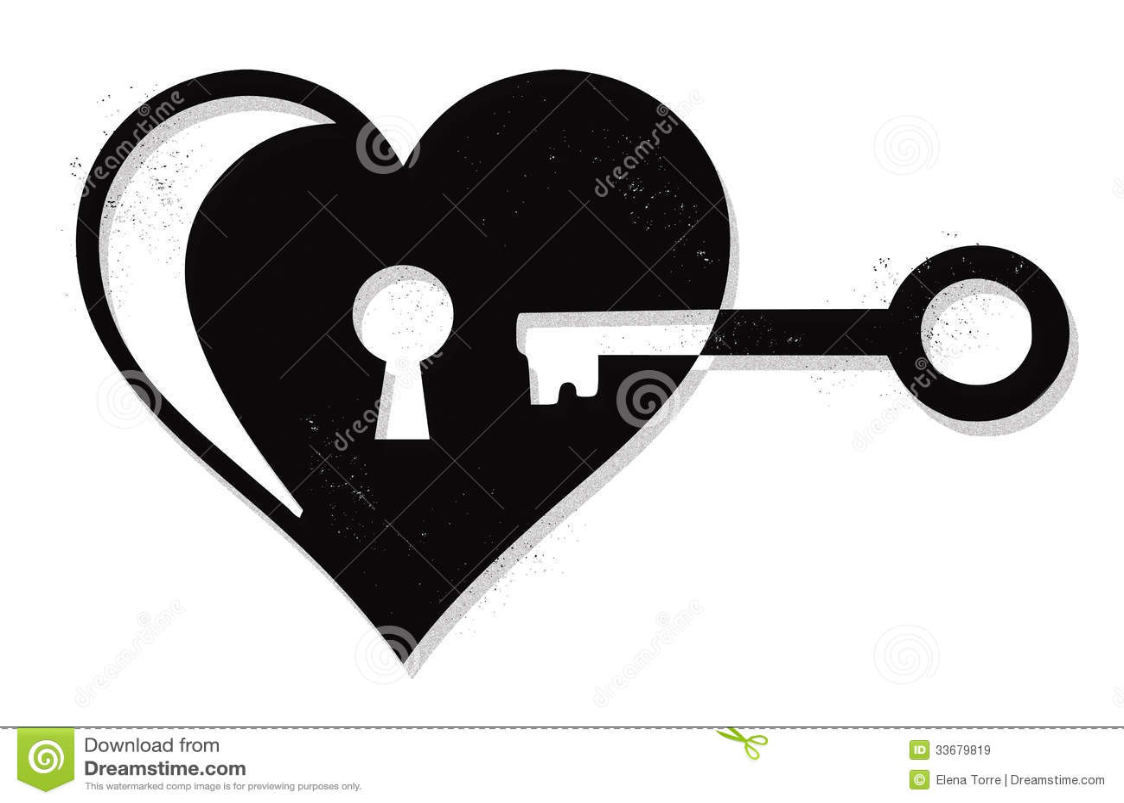 Vector Key Illustration: Heart Lock And Key Vector Stock Vector. Illustration Of