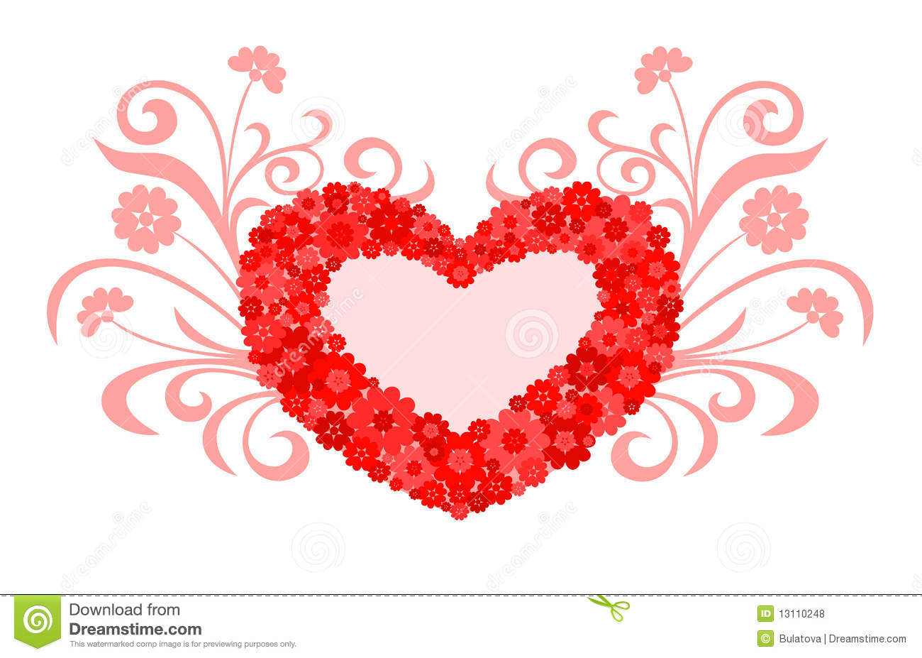 Heart love design stock vector illustration of holiday for Love in design