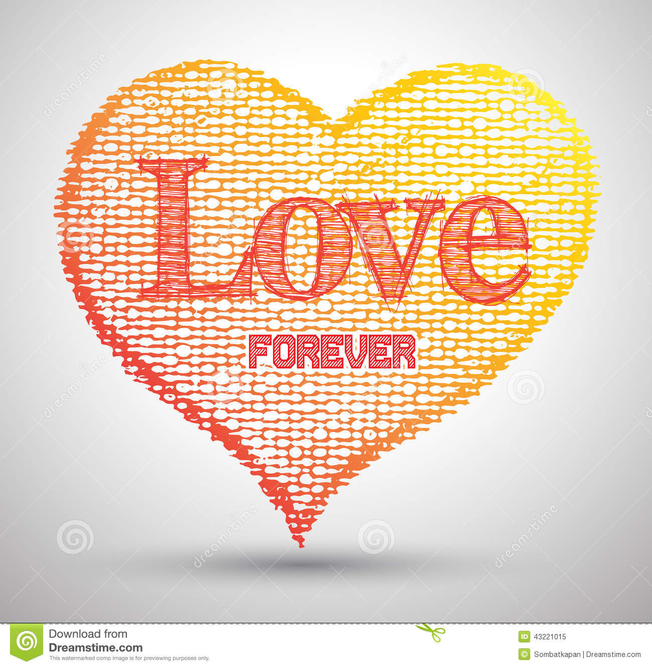 Heart Love Forever Drawings Abstract Stock Vector