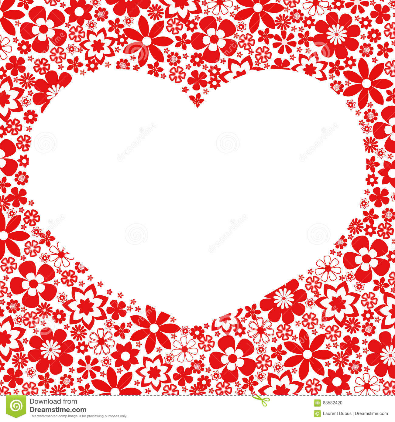 Heart Love Frame - Heart Flowers Collection Stock Photo ...