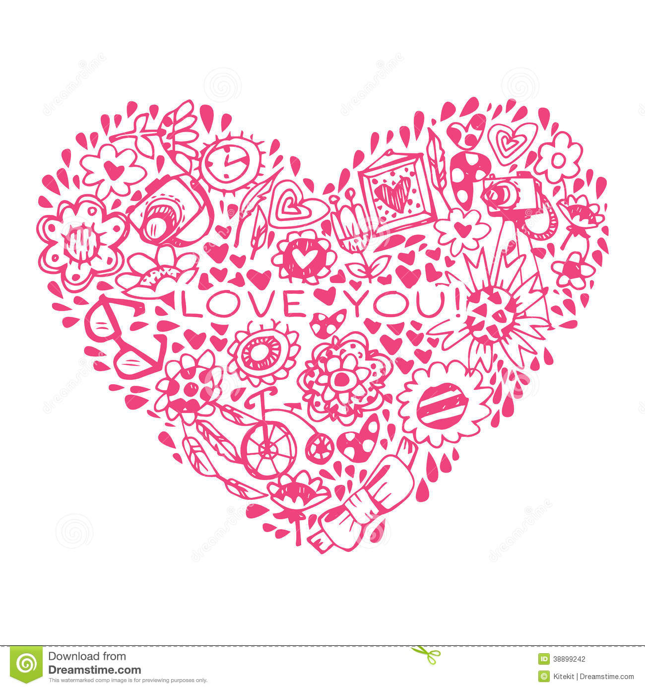 Heart love pattern template for design romantic greeting for Love in design