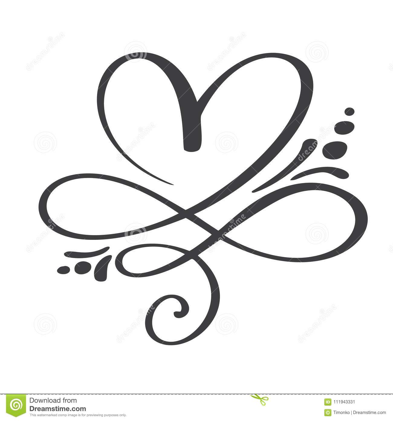 Heart Love Sign Forever Infinity Romantic Symbol Linked Join