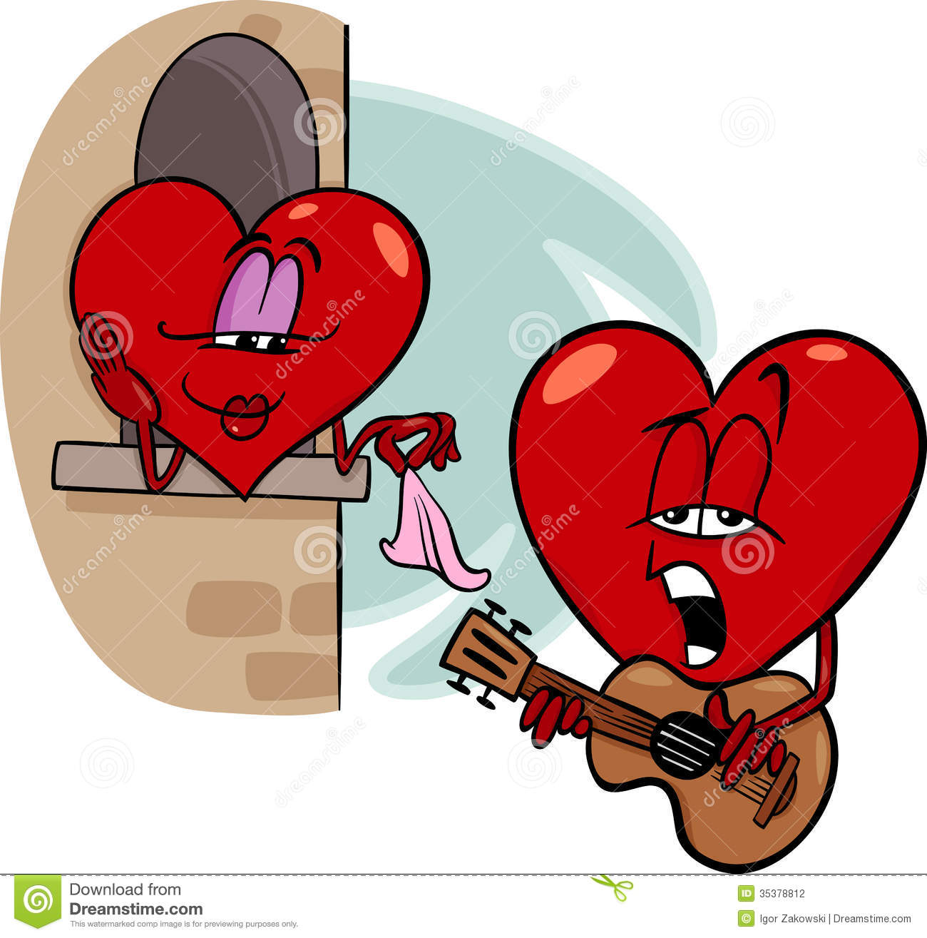funny cartoon heart singing royalty free stock images image