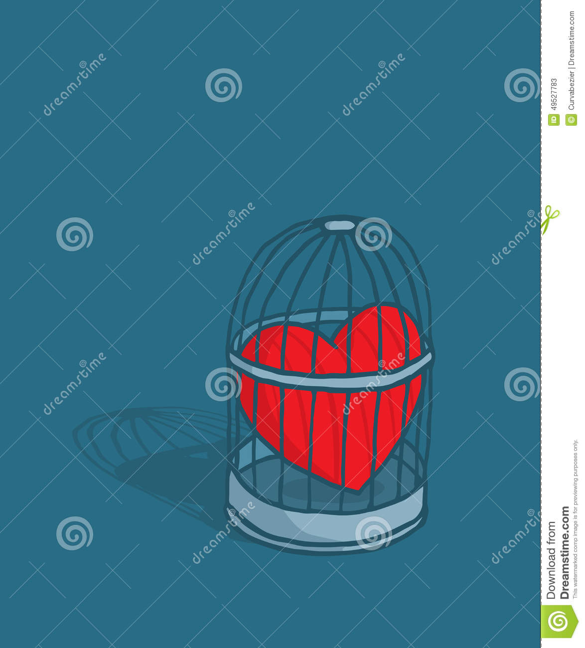 Heart or love trapped in cage stock vector illustration of heart or love trapped in cage buycottarizona