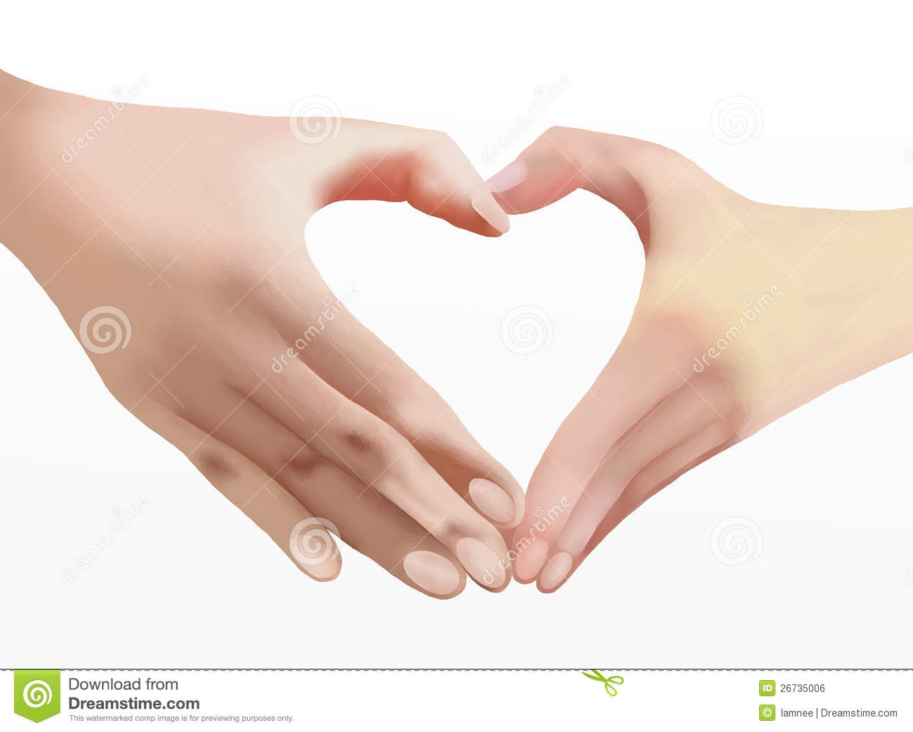 Heart Of Love, Two Hands Make Heart Shape Stock Illustration - Illustration of sign, married ...