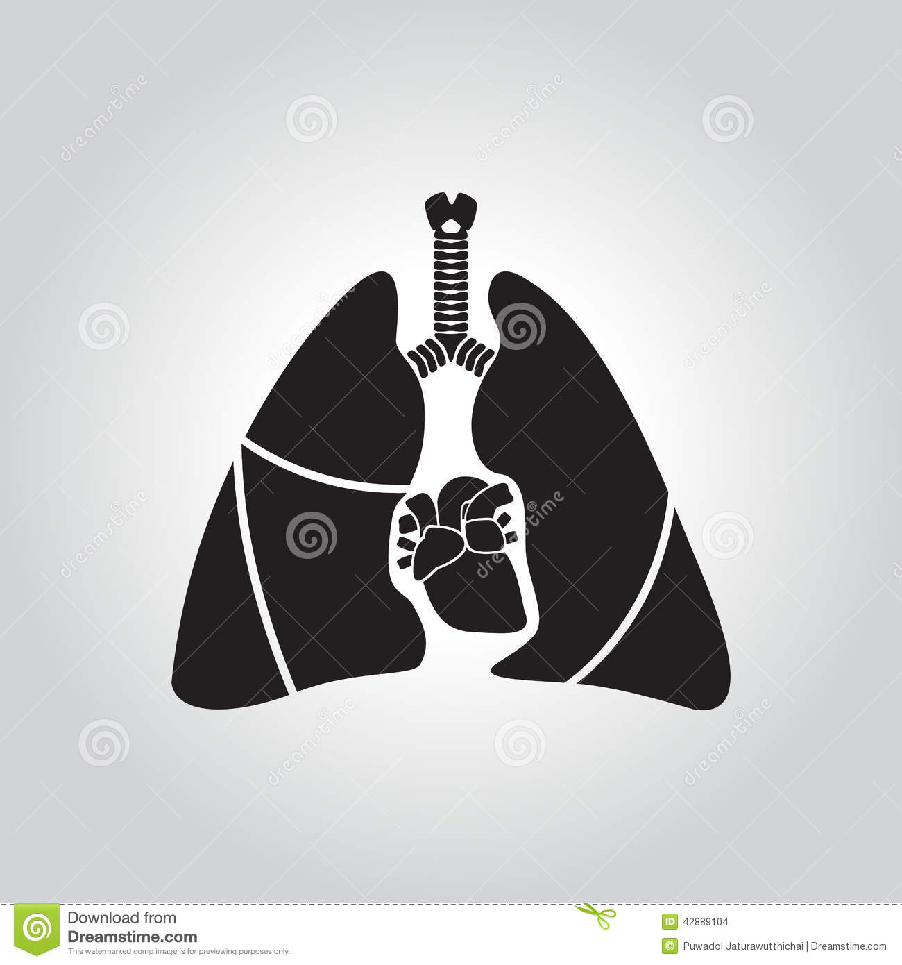 Heart and lung icon stock vector. Illustration of artery - 42889104