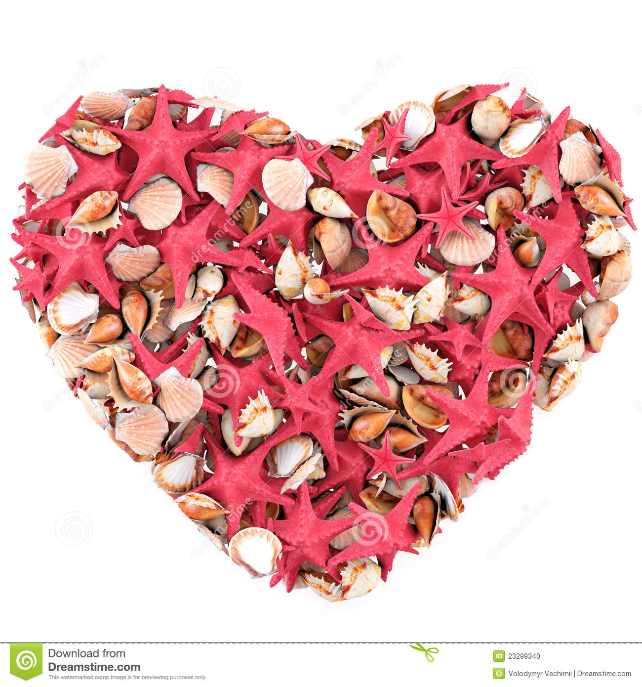 Heart made of sea shells stock photo image 23299340 for What are shells made of