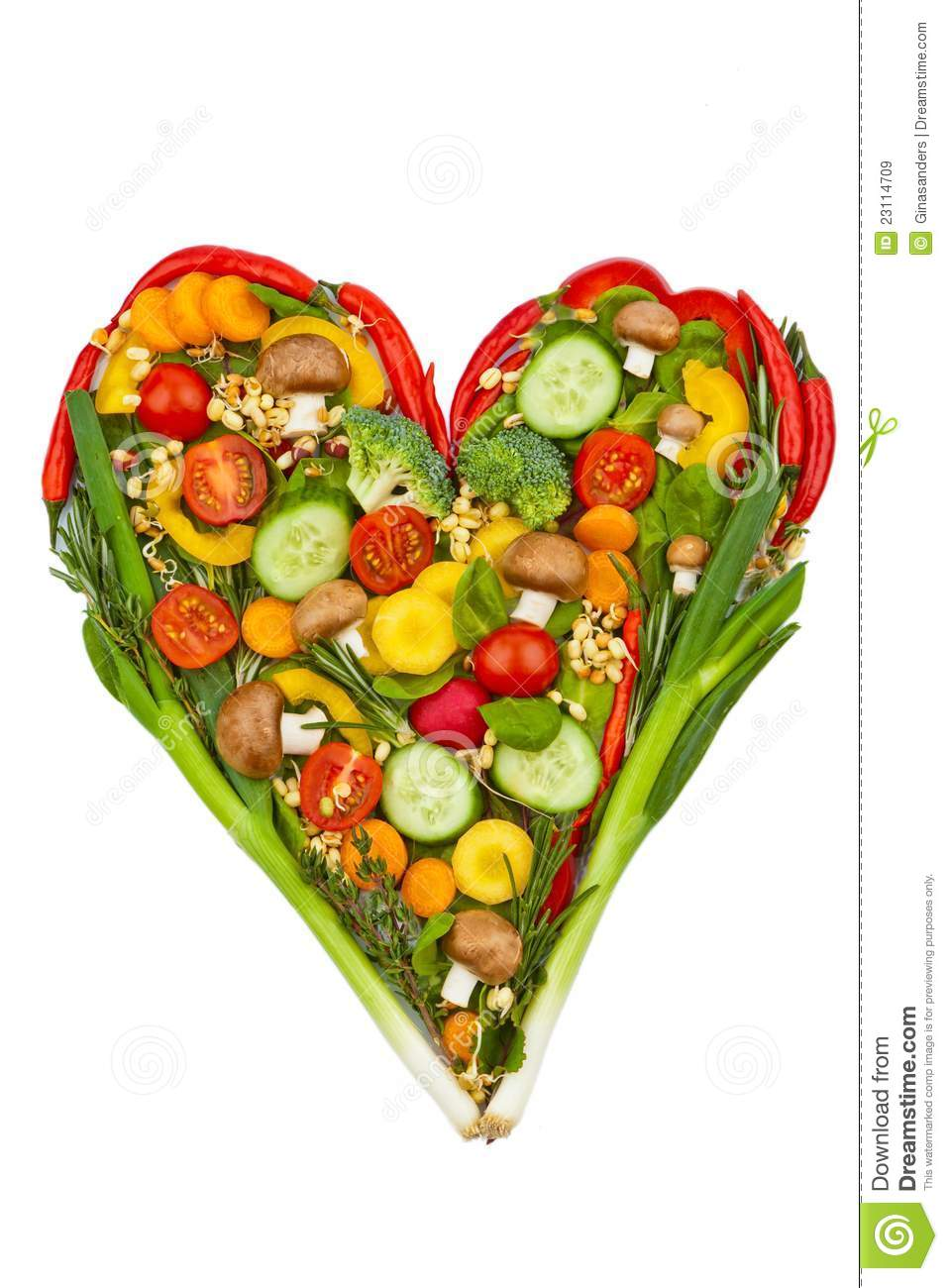 A Heart Made Of Vegetables. Healthy Eating Royalty Free ...