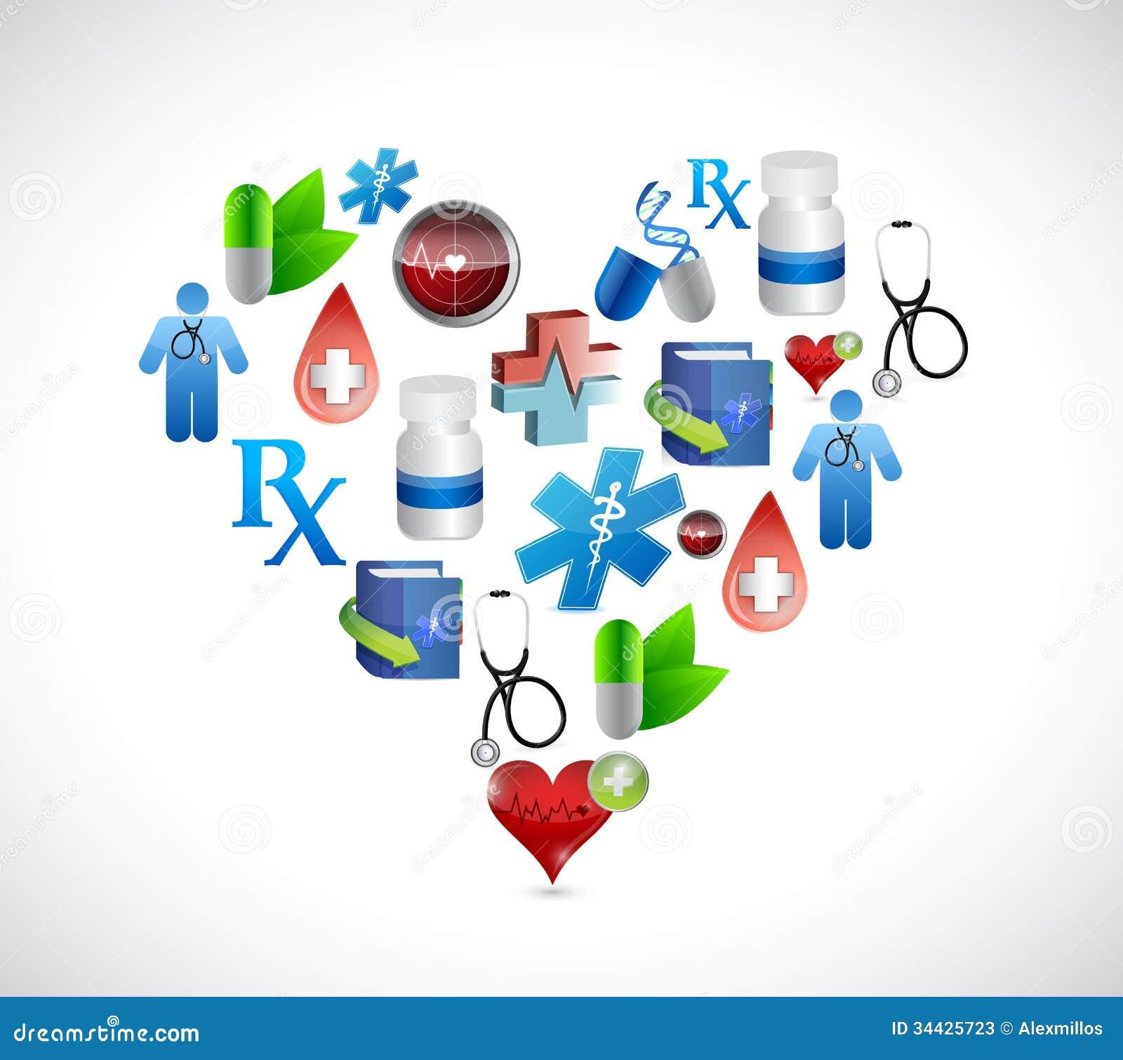 Heart Medical Icons Illustration Design Graphics Stock ...