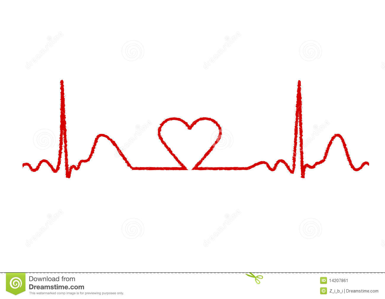Heart Monitor Stock Vector Image Of Ragged Blood Cardiology 14207861
