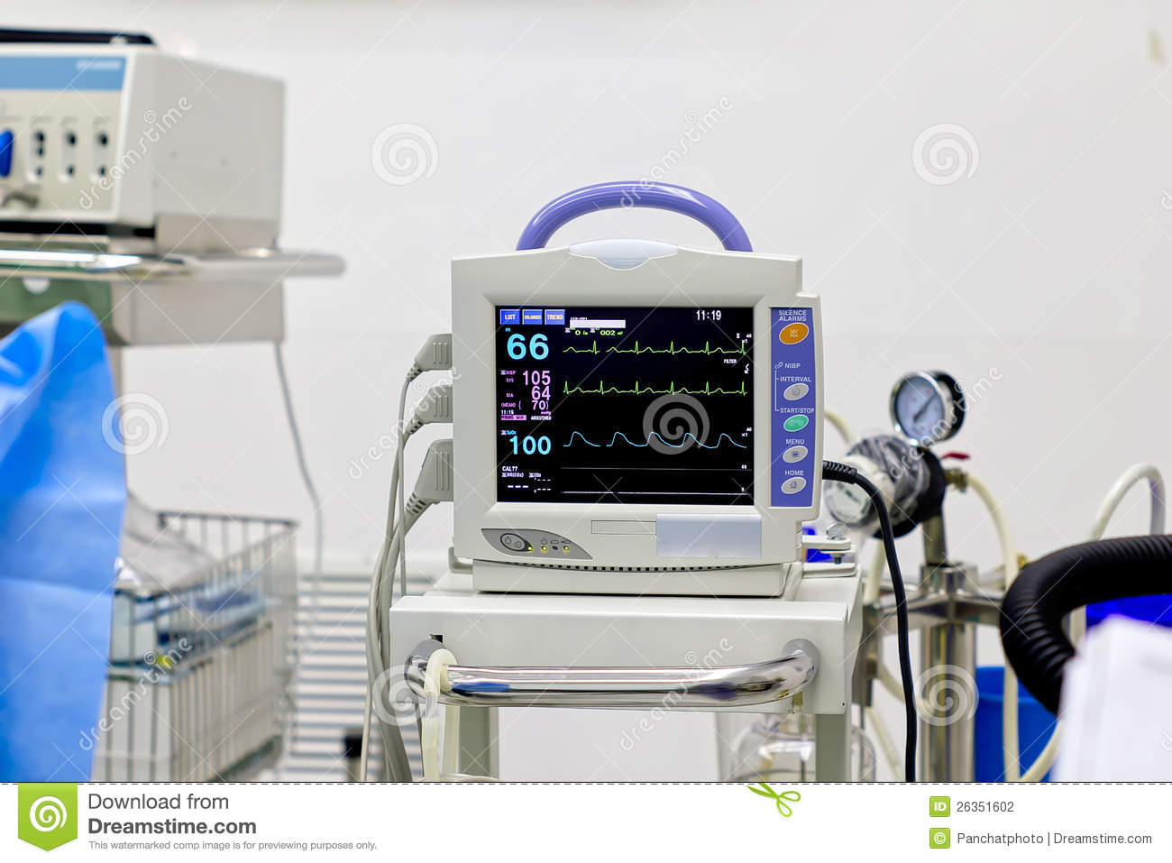 Heart Monitor Stock Photo  Image Of Care  Equipment  Blood