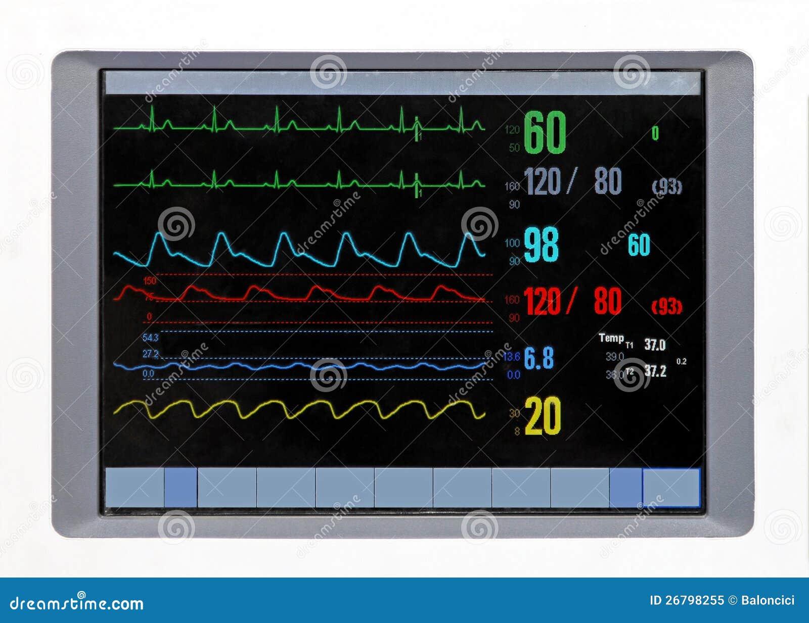 heart monitor stock image image of equipment  cardiology ekg vectors explained ekg vector srca objasnjenje