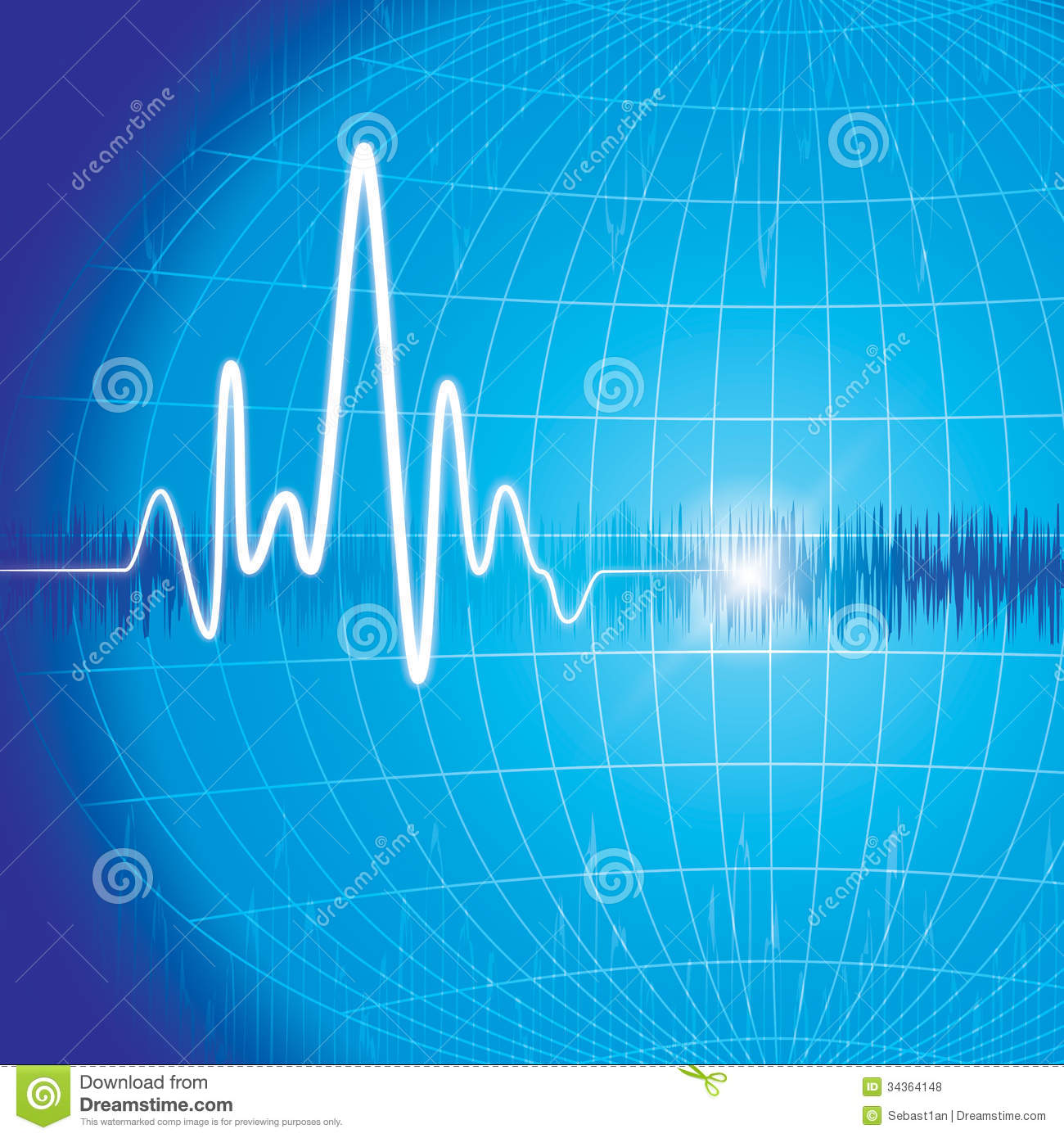 Heart Monitor Abstract Background Great Print Presentation Rhythm Illustrations Royalty Free