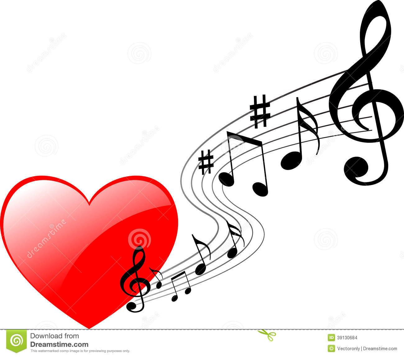 heart music stock vector illustration of banner  chords free clipart music note Colorful Music Notes Clip Art