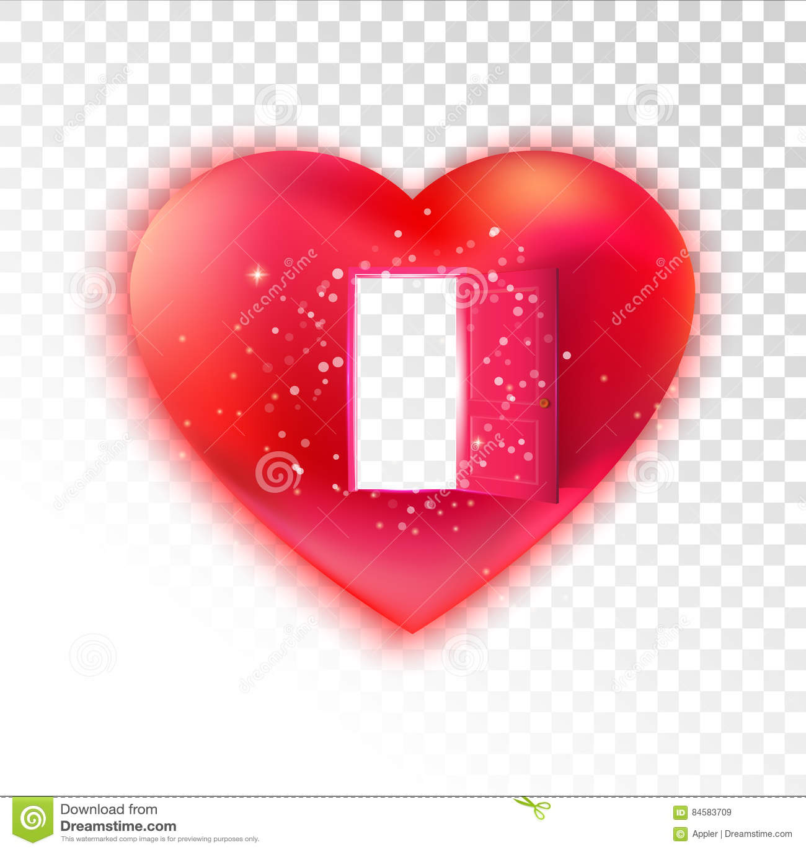Heart with open door on transparent stock vector illustration of heart with open door on transparent buycottarizona Gallery