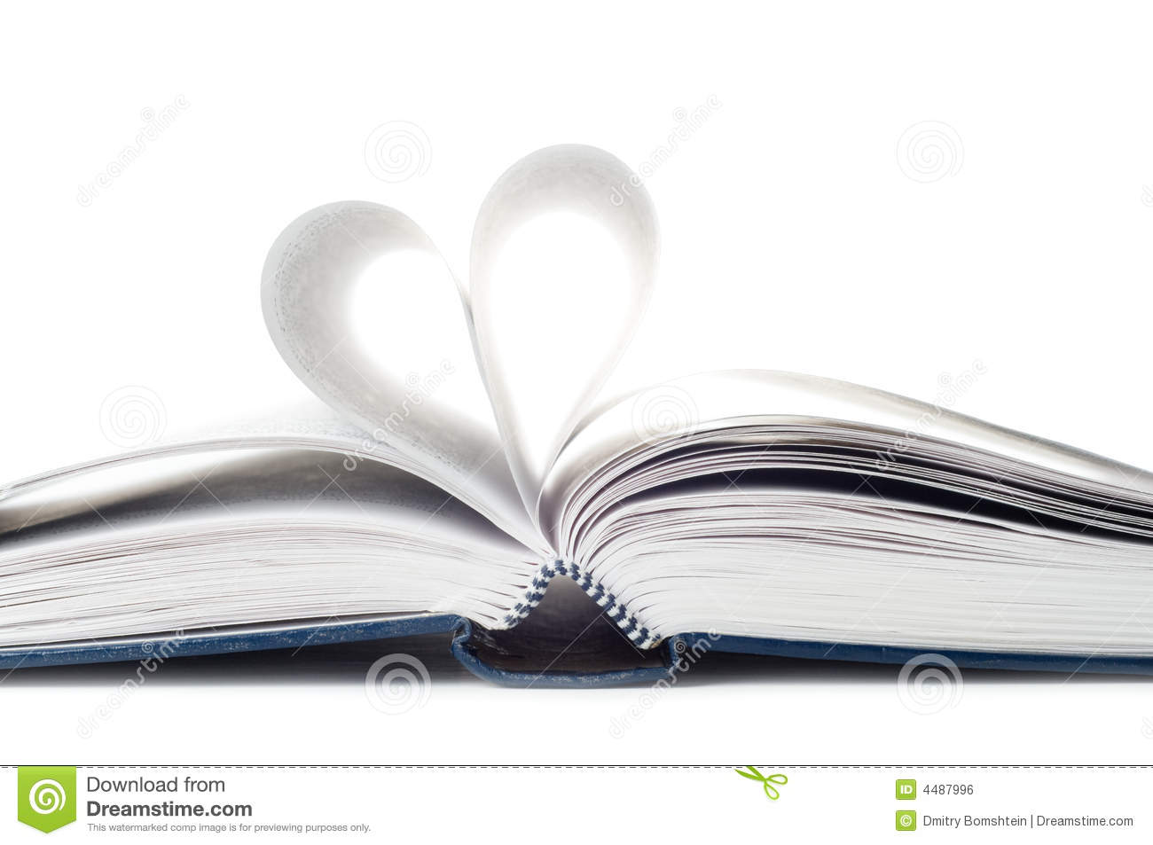 Heart from pages