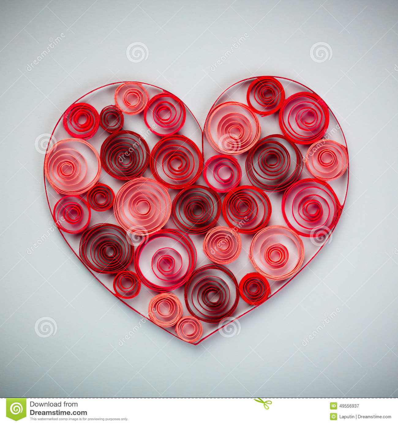 Heart Of Paper Quilling For Valentine S Day Stock Illustration