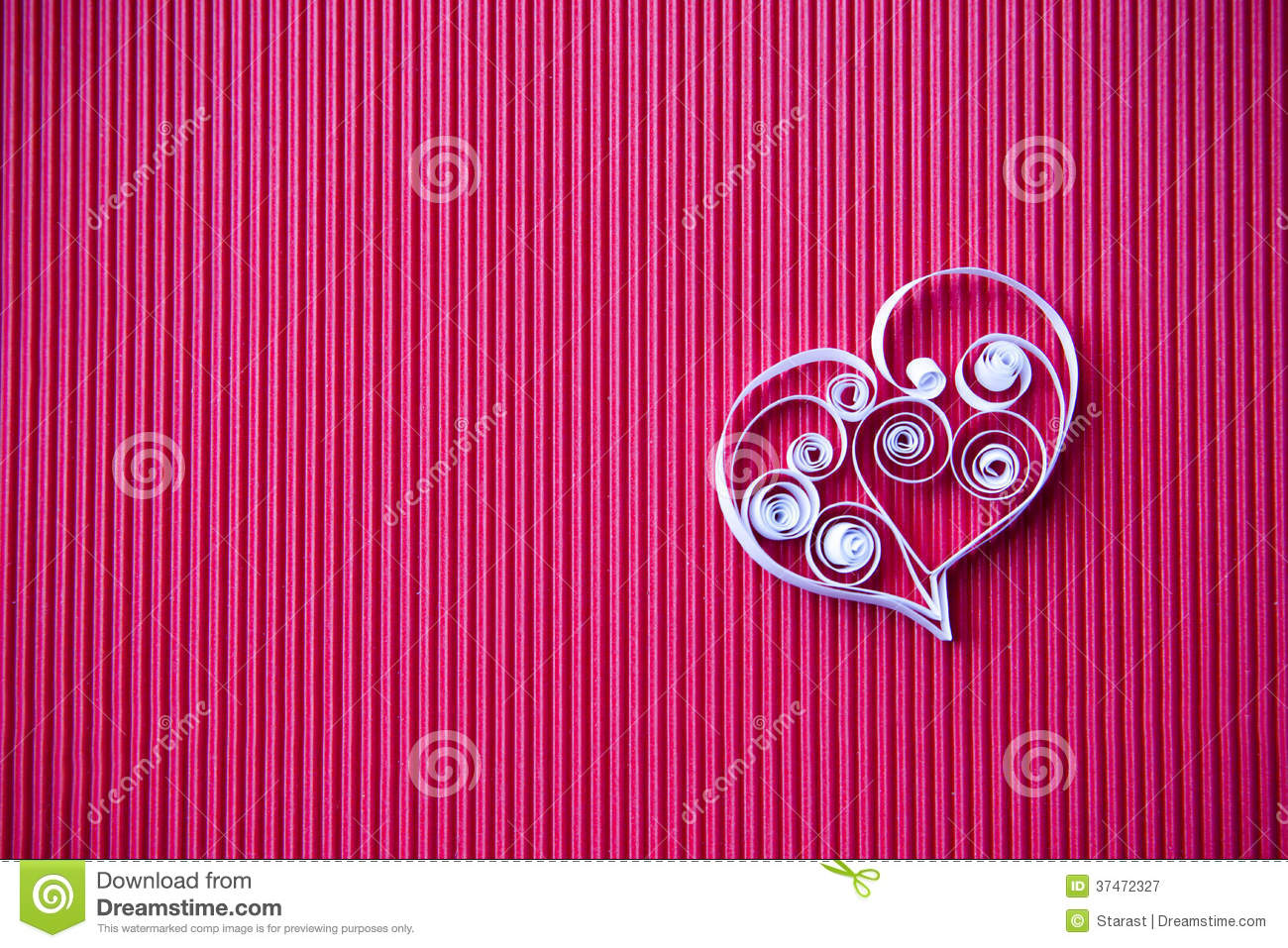 Heart Of Paper Quilling For Valentine S Day Stock Image Image Of