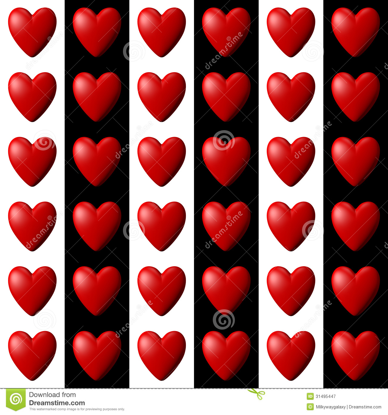 Heart Pattern With Vertical Stripes Royalty Free Stock
