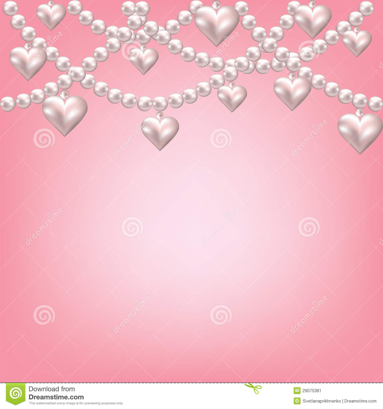 Heart pearl necklace stock vector. Illustration of bead ...