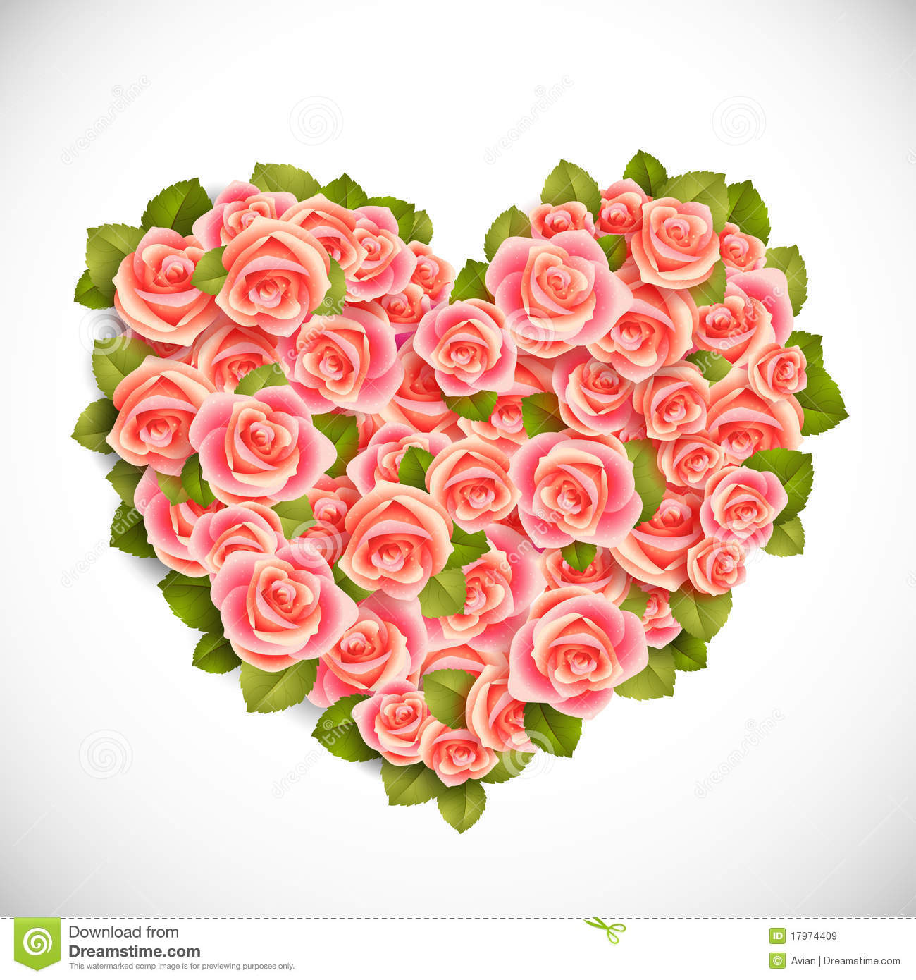 Heart Of Pink Roses Royalty Free Stock Images - Image: 17974409 Pink Roses And Hearts