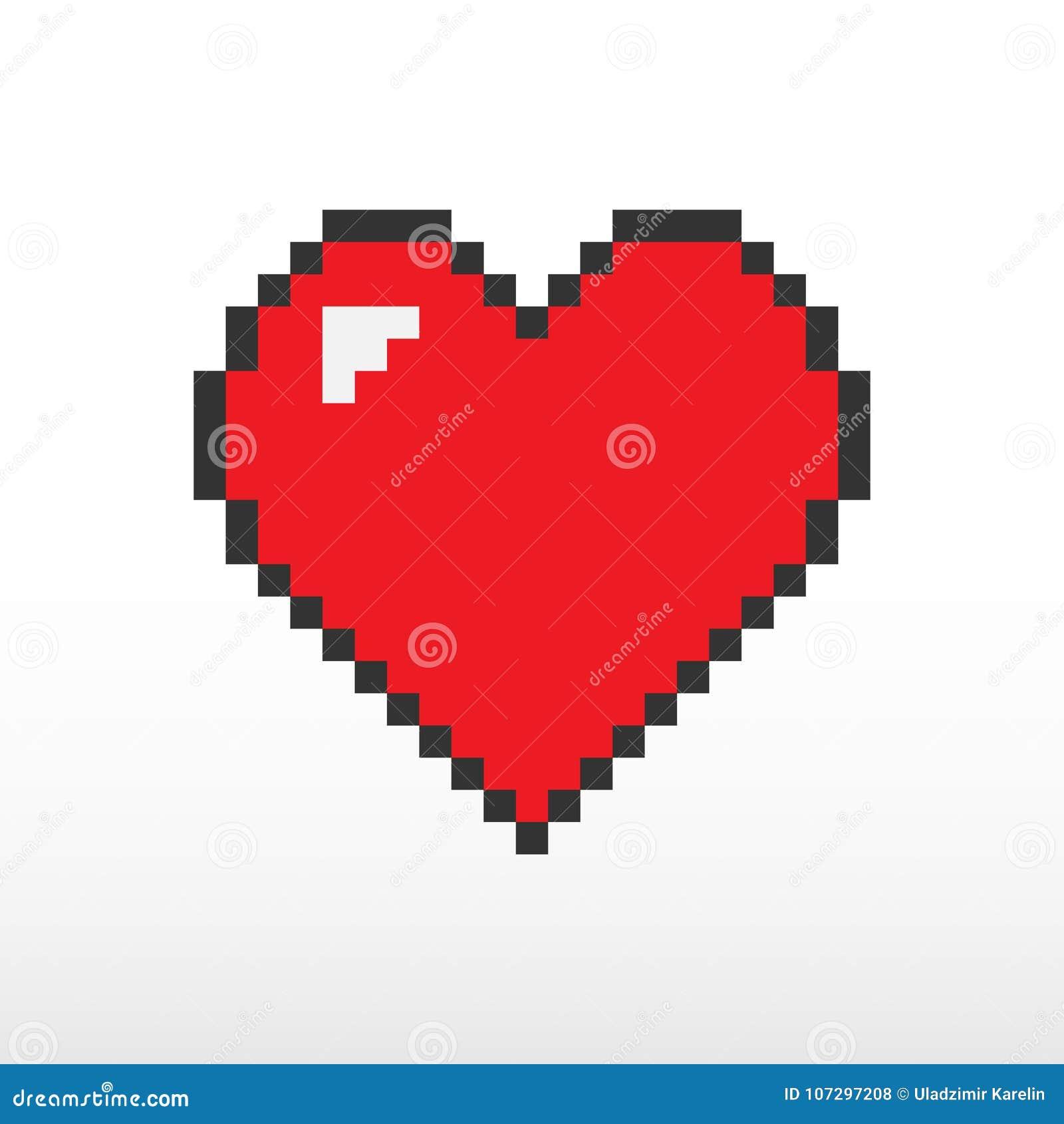 Heart Pixel Vector Stock Vector Illustration Of Vector