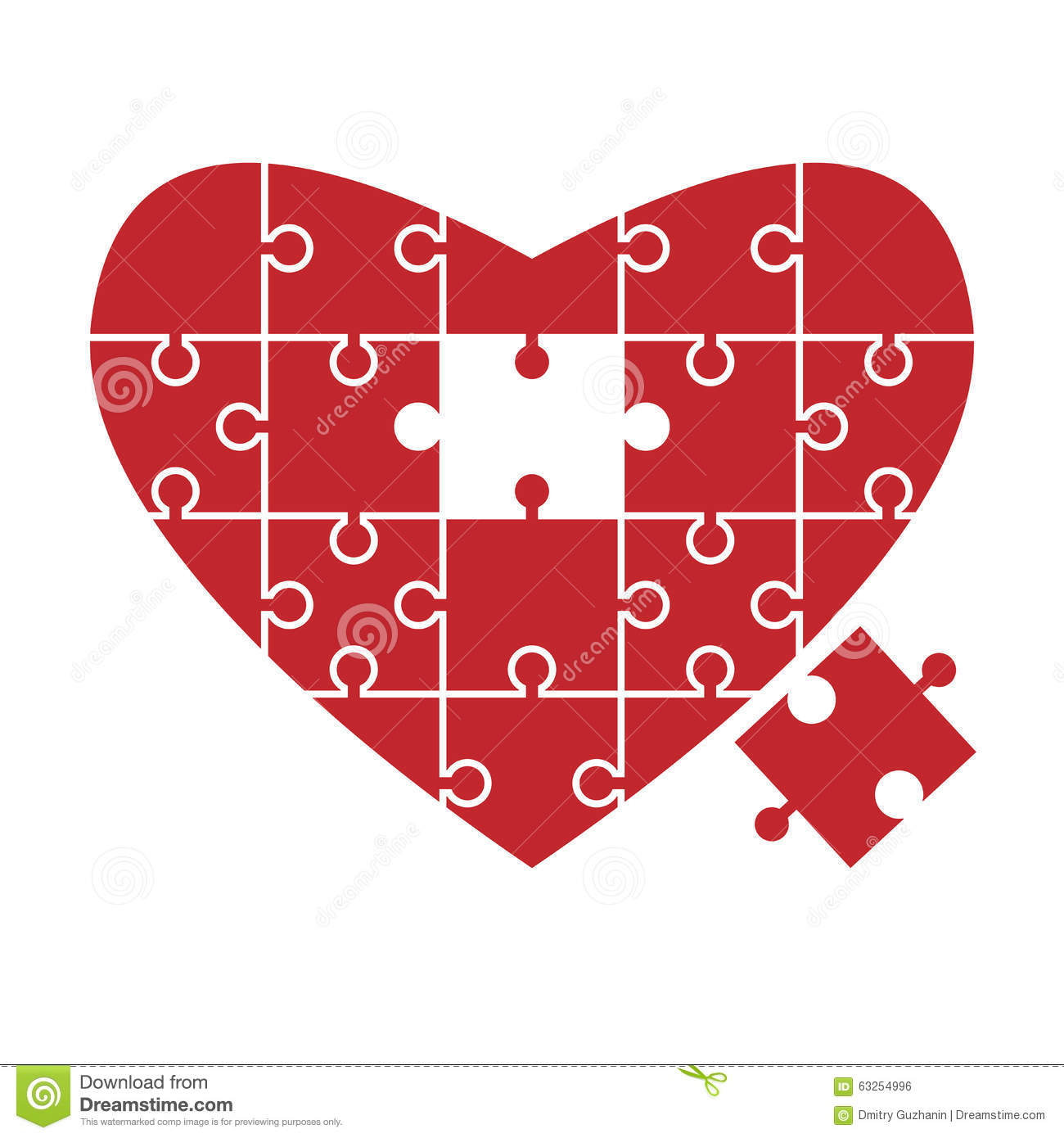 Download Heart Puzzle Missing Piece Stock Vector