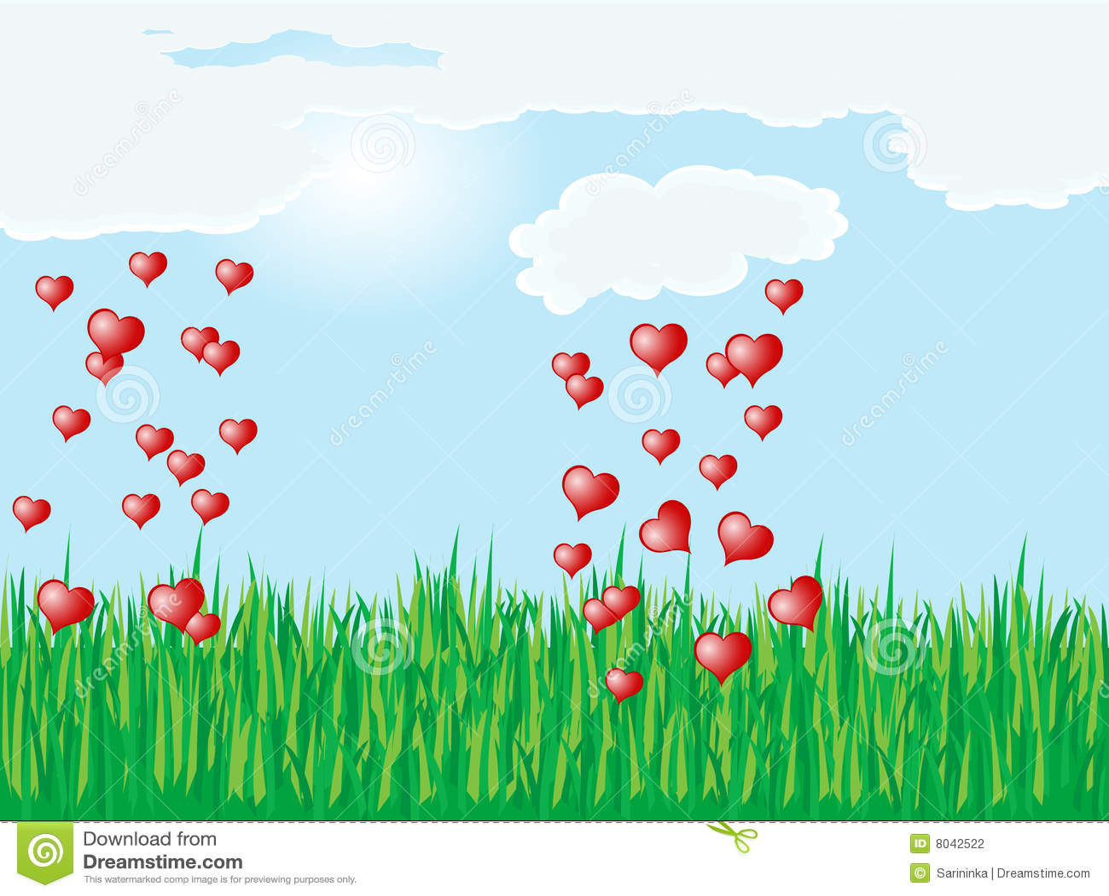 Heart Rain Stock Photography - Image: 8042522