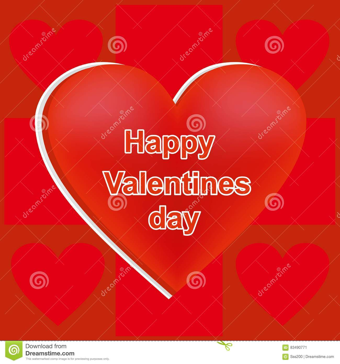 Heart Of Red Color Card For St Valentines Day A Holiday Of – Valentine Card Words