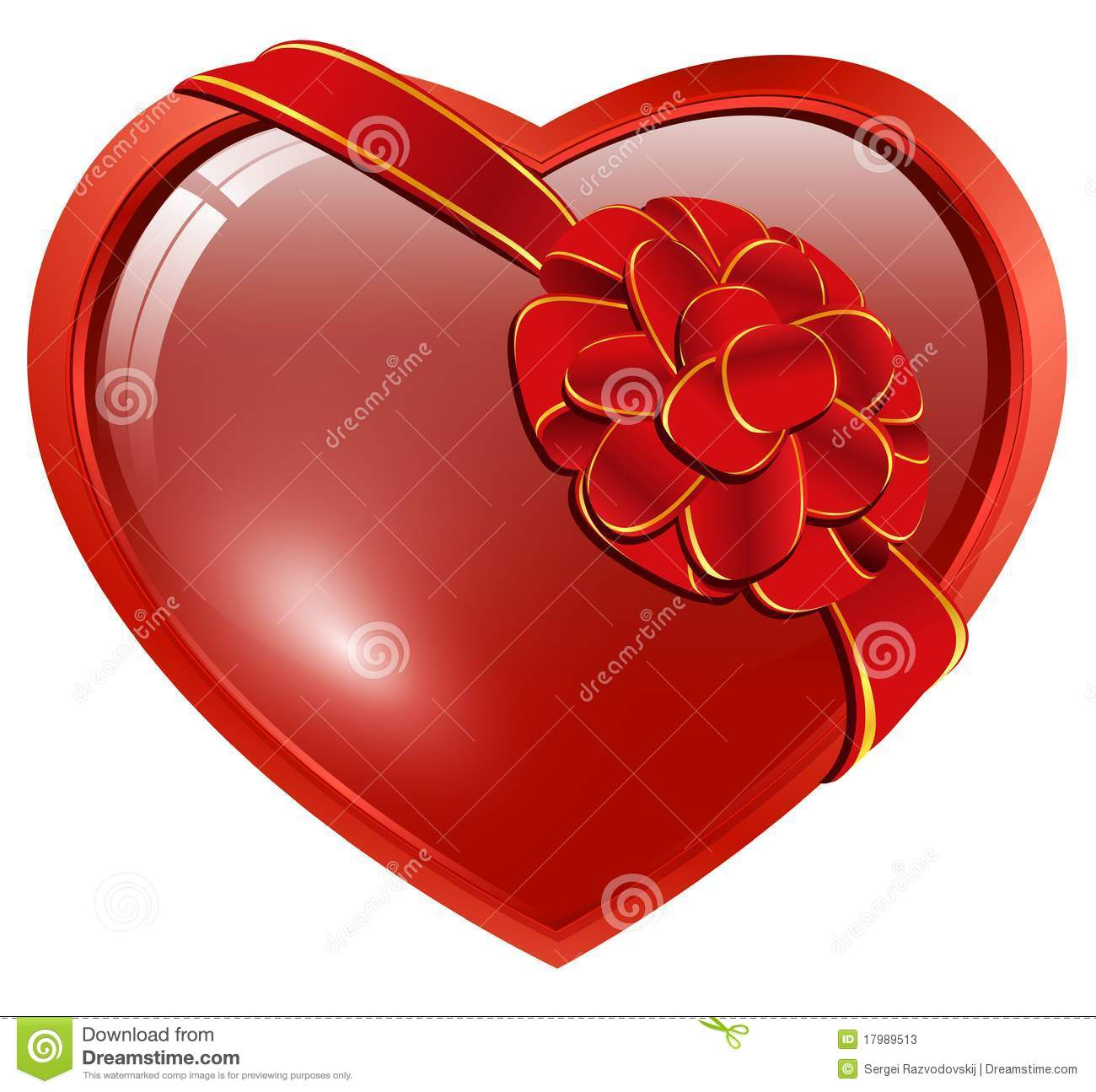 Heart With Ribbon Bow Stock Photos - Image: 17989513