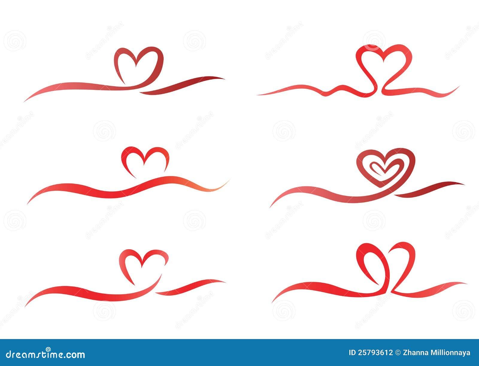 Heart ribbon set