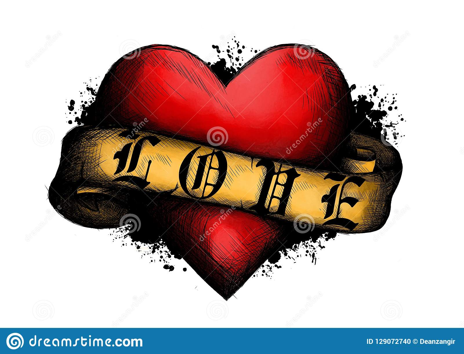 Tattoo Heart Ribbon Stock Illustrations 2 559 Tattoo Heart Ribbon Stock Illustrations Vectors Clipart Dreamstime
