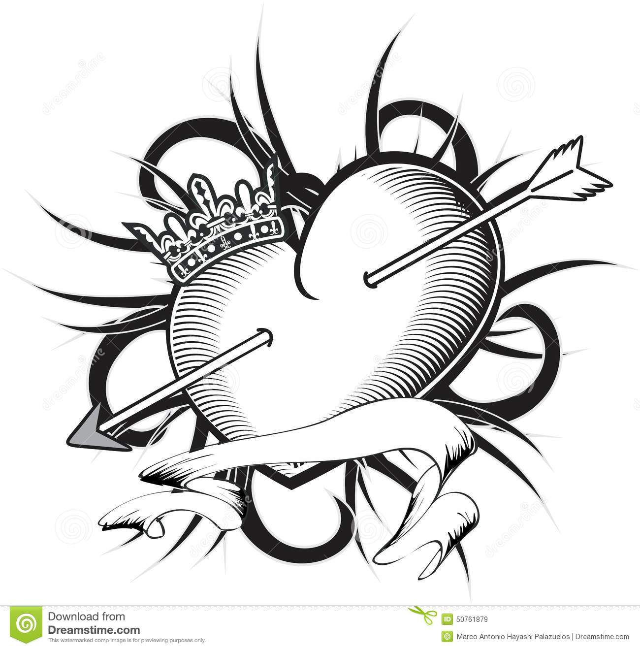 3b73058672bb5 Heart and ribbon tattoo tshirt in vector format very easy to edit. More  similar stock illustrations