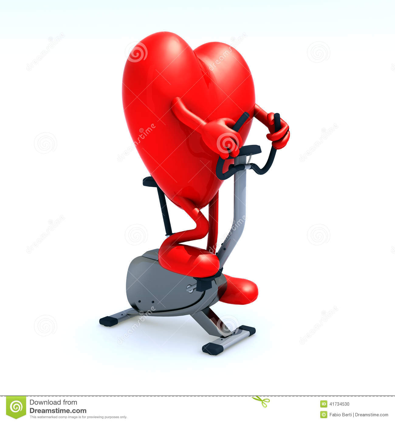 Heart Riding A Bicycle Stock Illustration - Image: 41734530